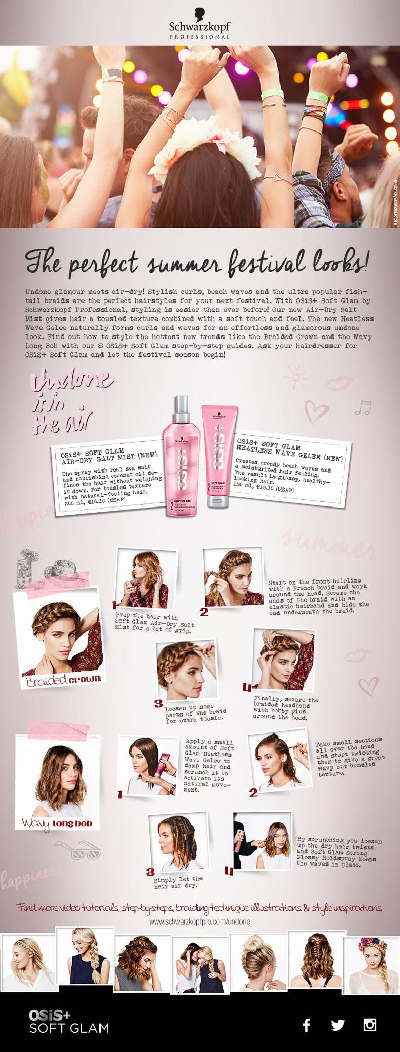 """Schwarzkopf Newsletter zum Thema """"Festival Hair"""""""