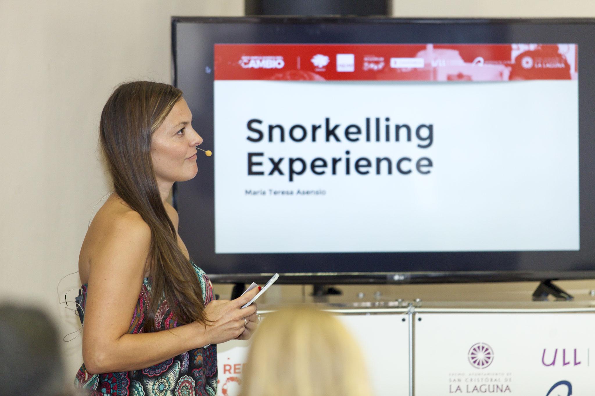 María Teresa Assencio, Snorkeling experience