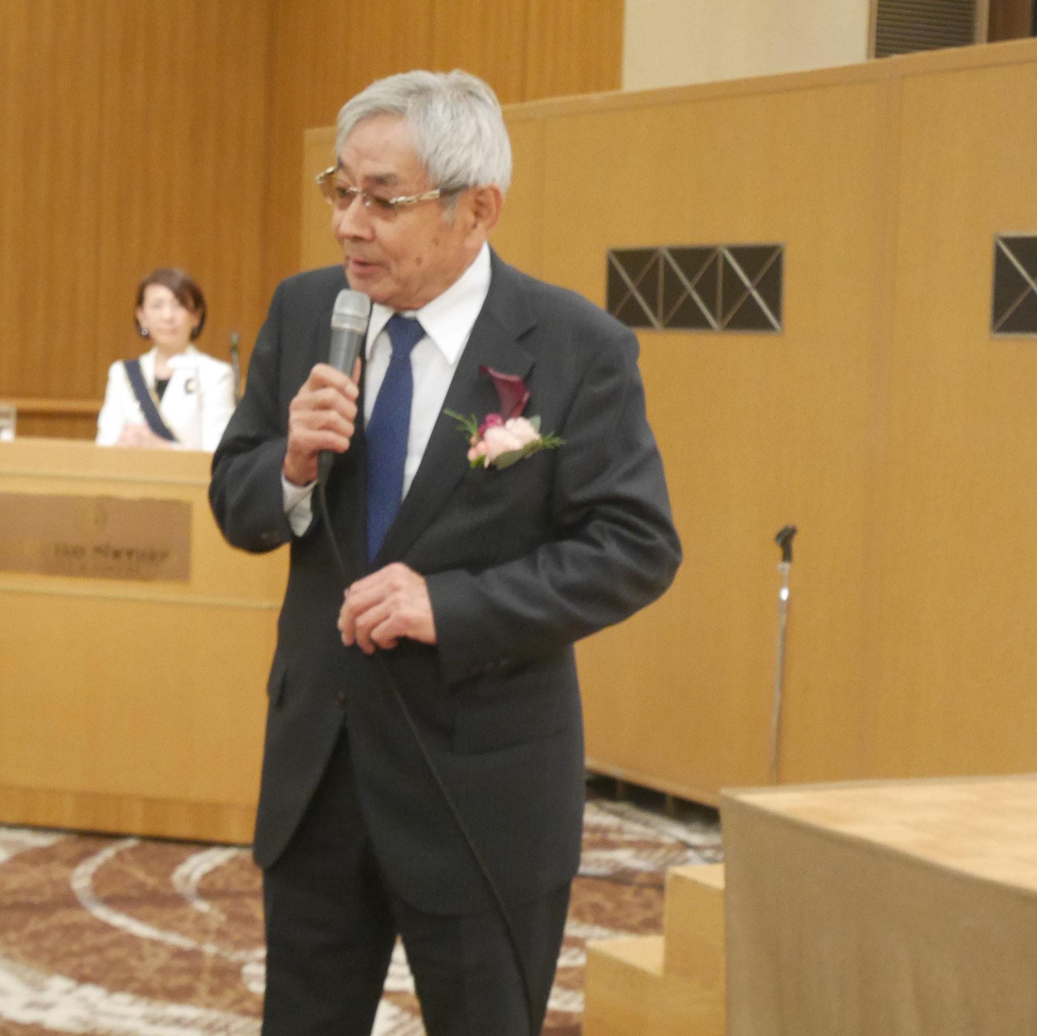 啓明学院名誉院長 尾崎八郎 先生