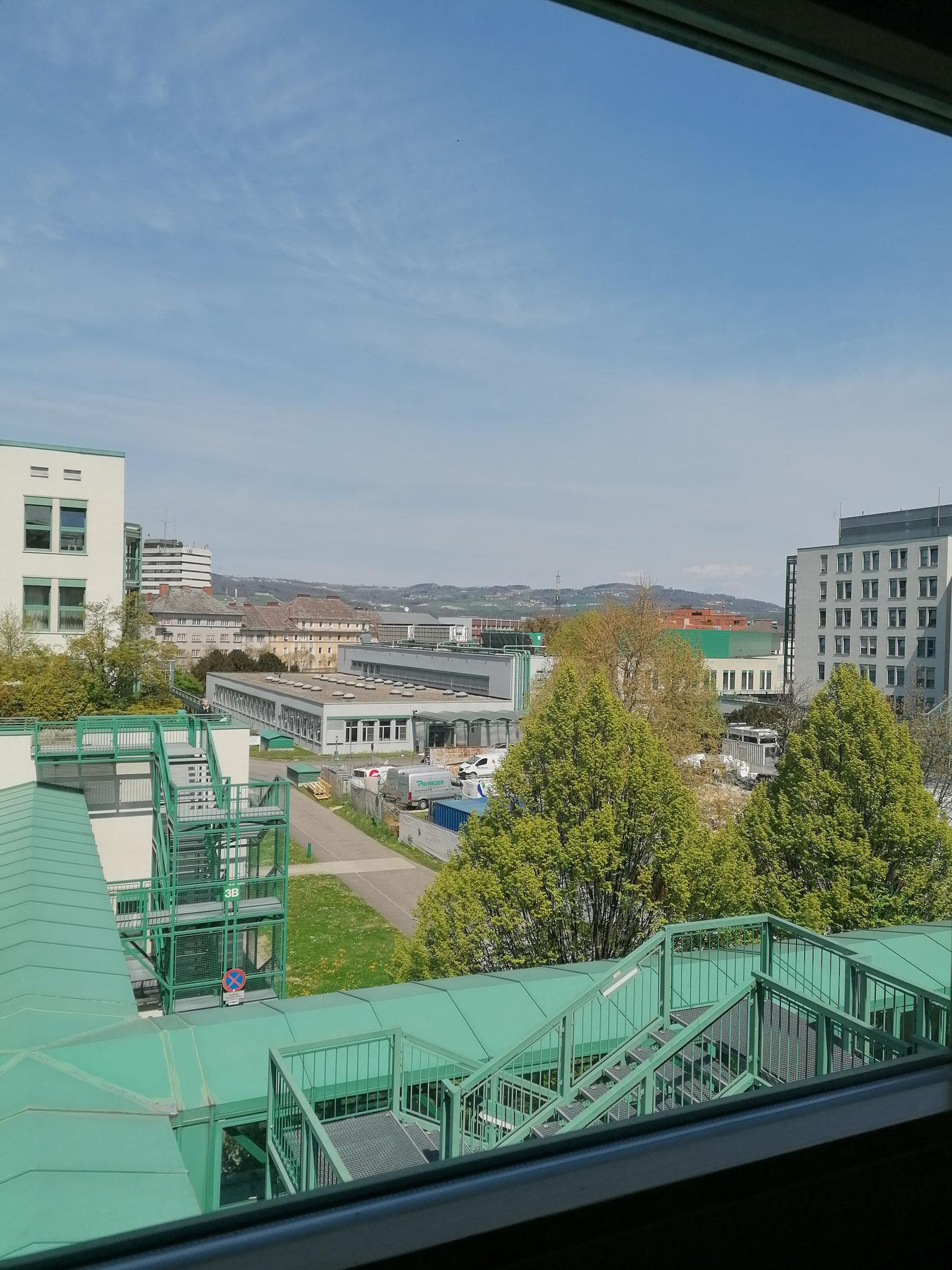 ein Spitalfensterblick-Foto