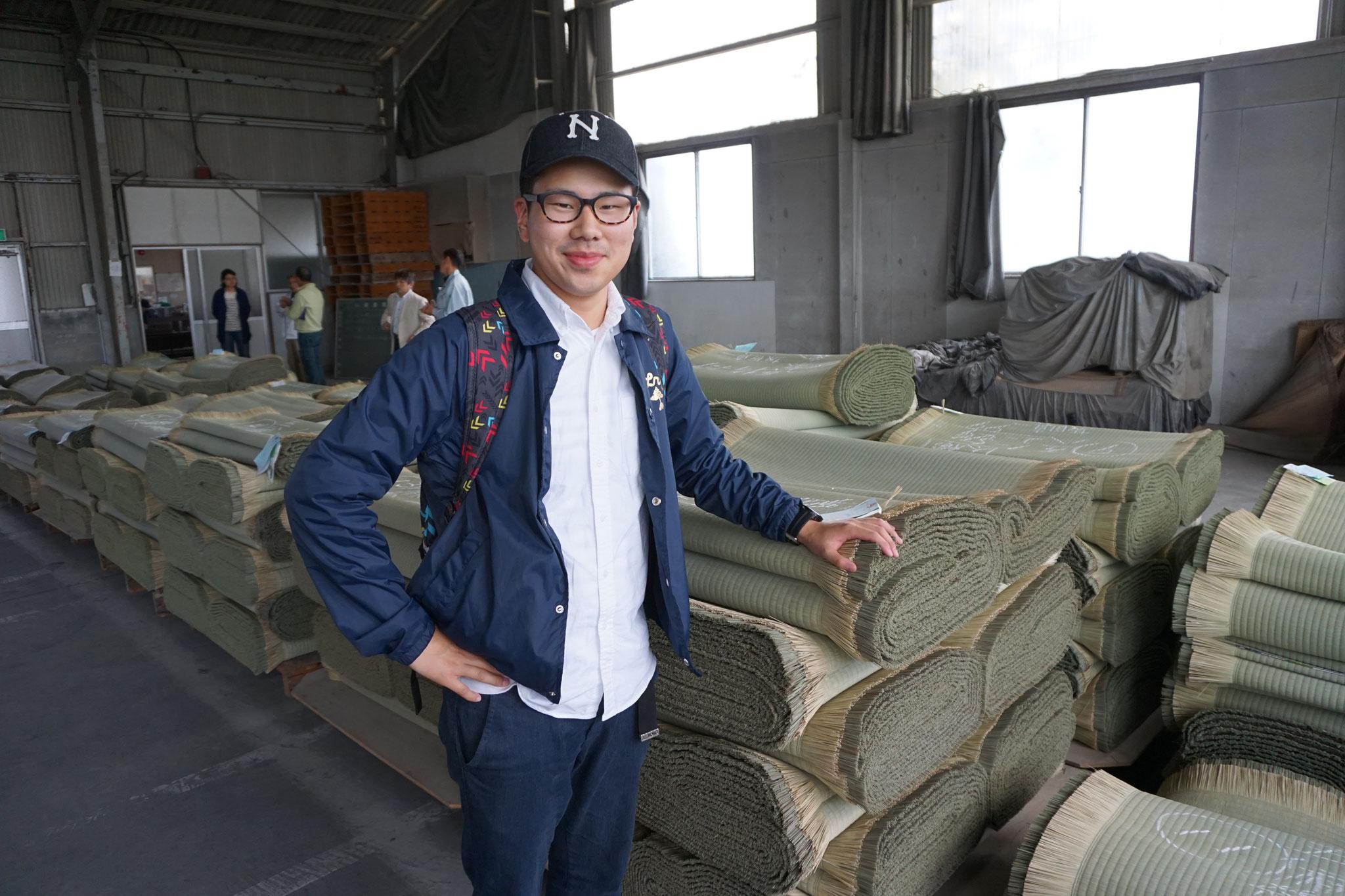 熊本八代で産地畳表研修