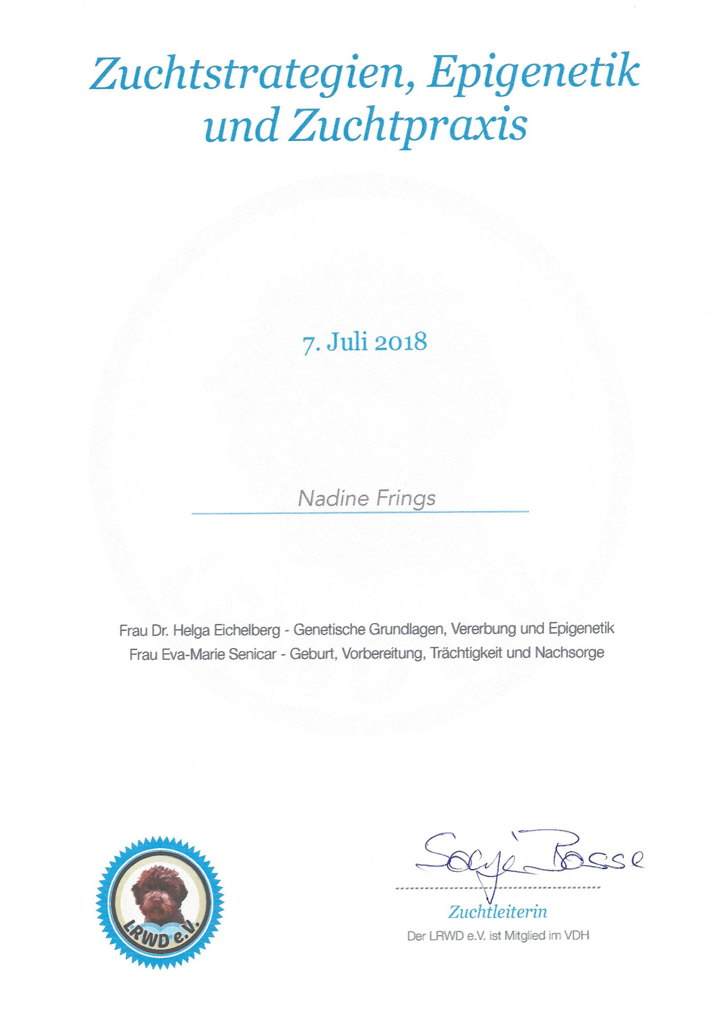 Zuchtstrategien, Epigenetik, Zuchtpraxis / 07. Juli 2018