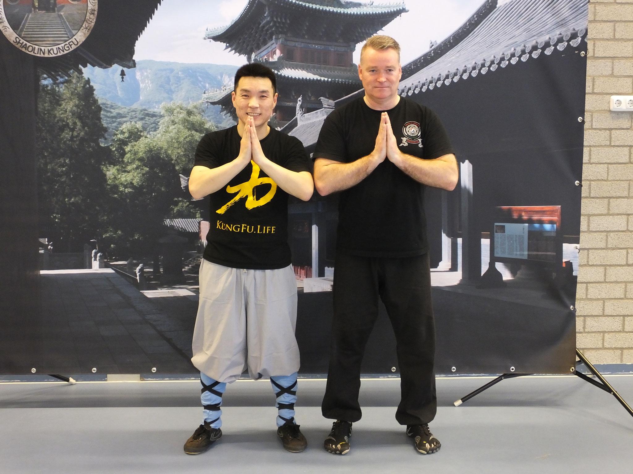 Workshop Shaolin Da Mo Jian met master Yan Xin (34ste generatie Shaolin monnik). Brummen 26 maart 2017