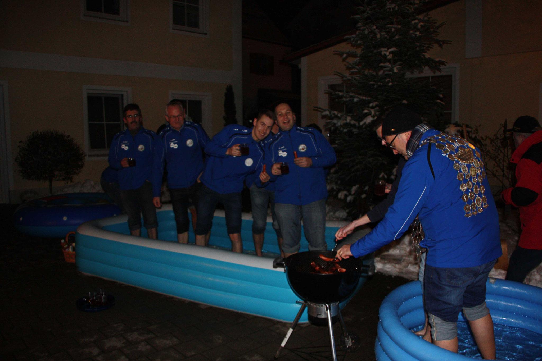 Cold Water Grill Challange: die Schützenkönige beim Grillen.