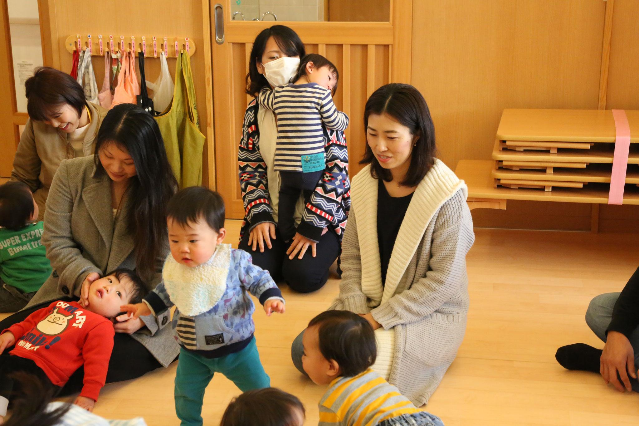 2月 乳児組保育参観・大きくなりました