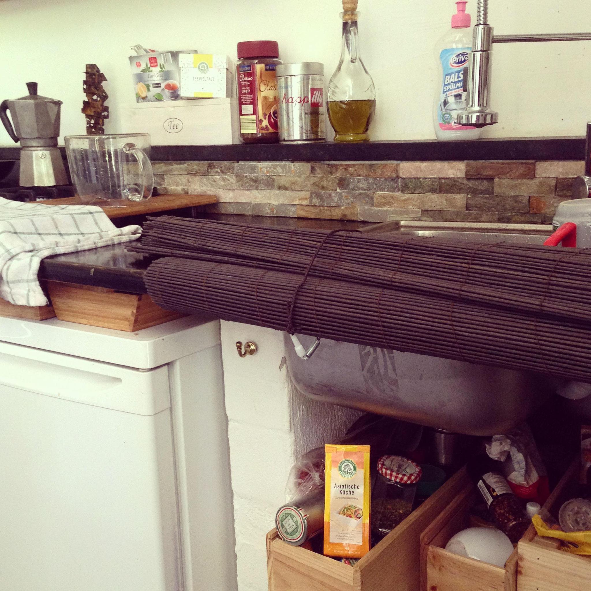 Die Küche vor Ort ist erfreulicherweise ganz gut mit Gewürzen ausgestattet. Etwas, das eher der Seltenheit entspricht.