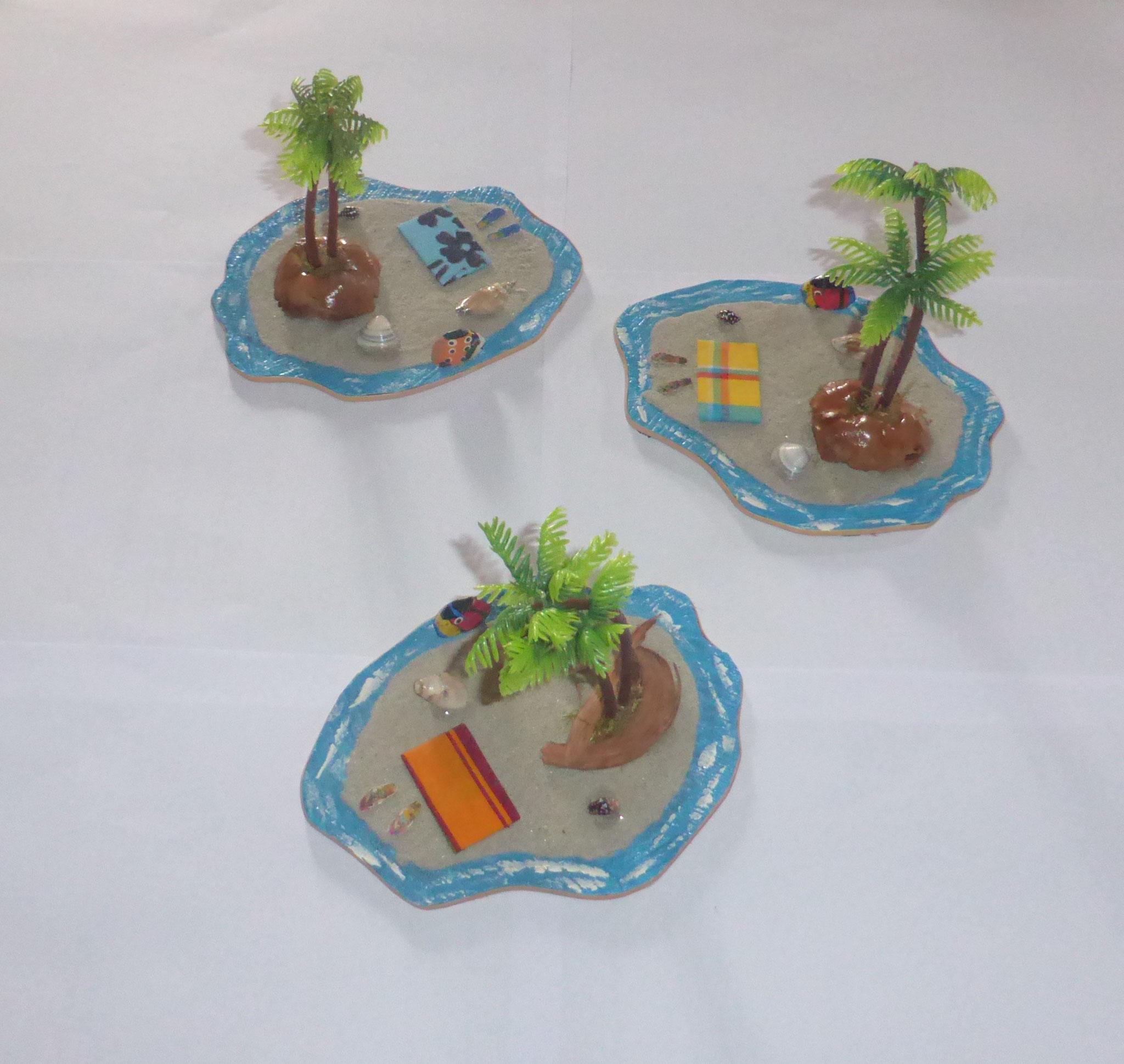 """centres de tables """"palmier"""" (forfait déco)"""