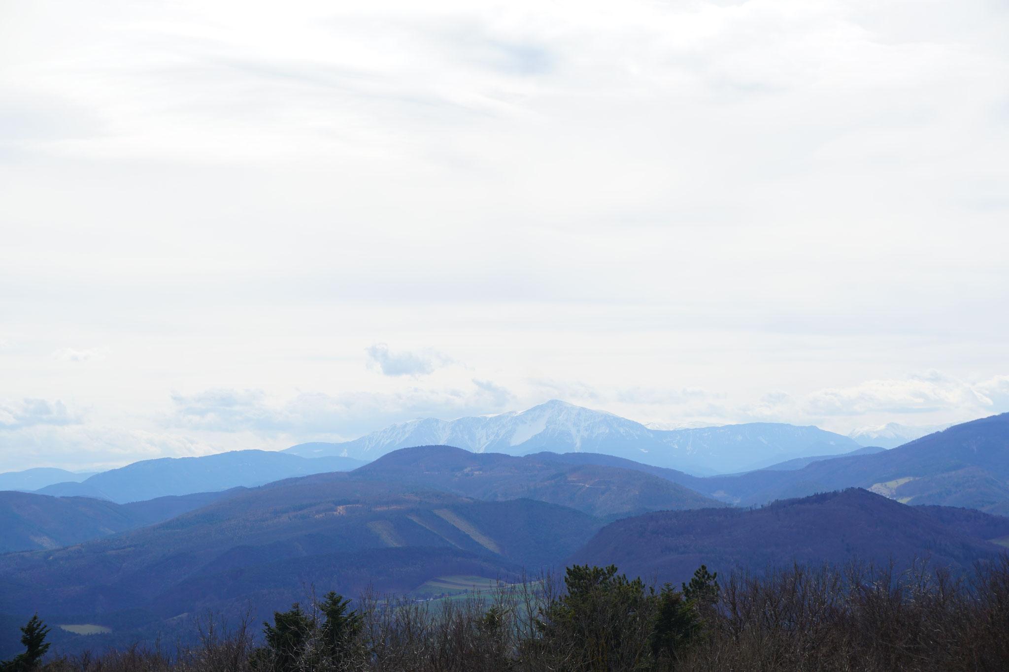 Traumhafter Blick auf den Schneeberg