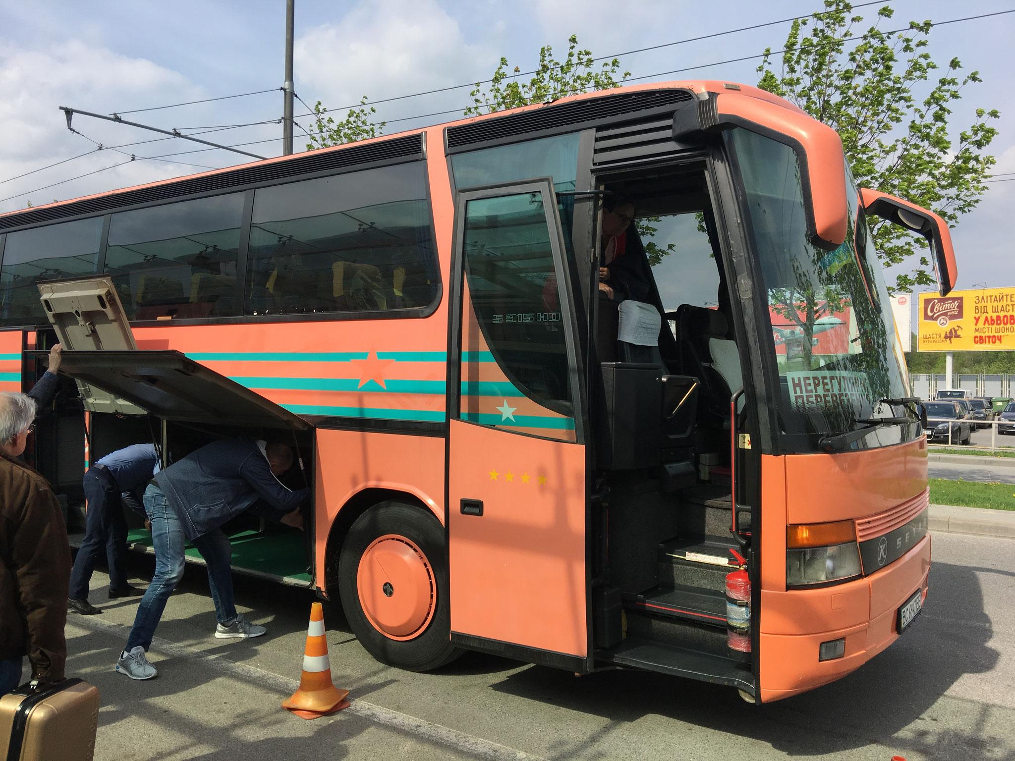 Unser Bus für die kommenden Tage