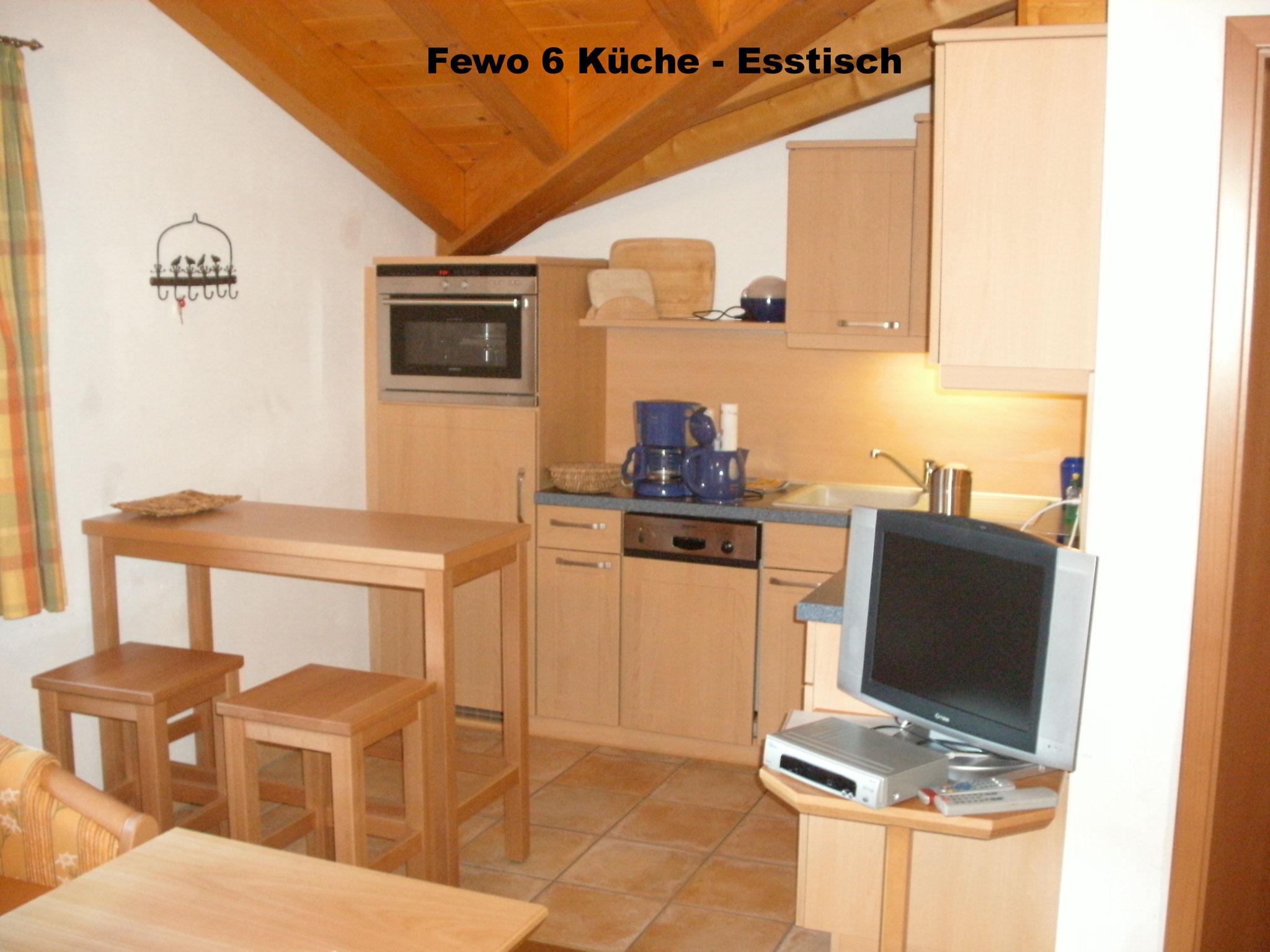 Essbereich - Ferienwohnung 6 - Hilbrand Appartements
