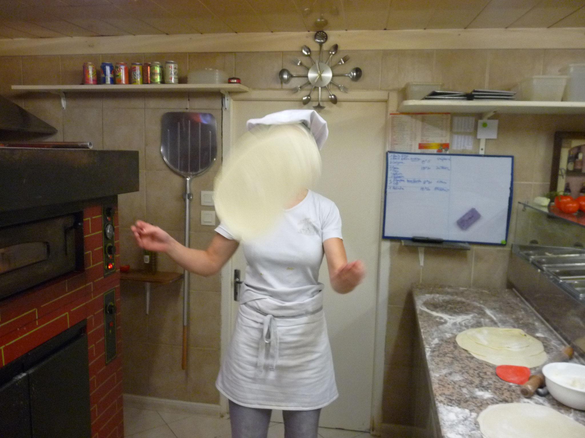 Ouverture de la pâte