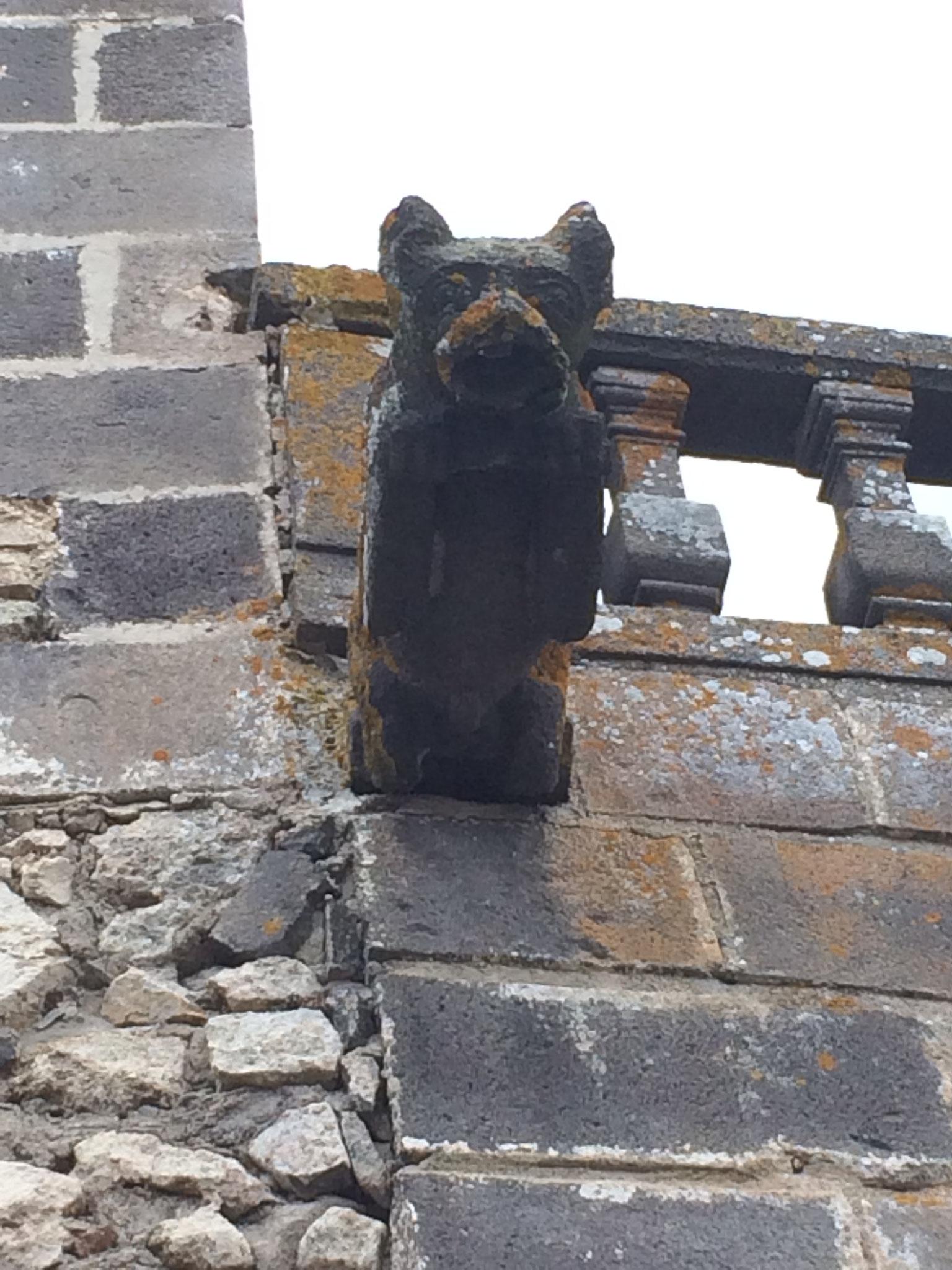 Le loup, gardien du château.