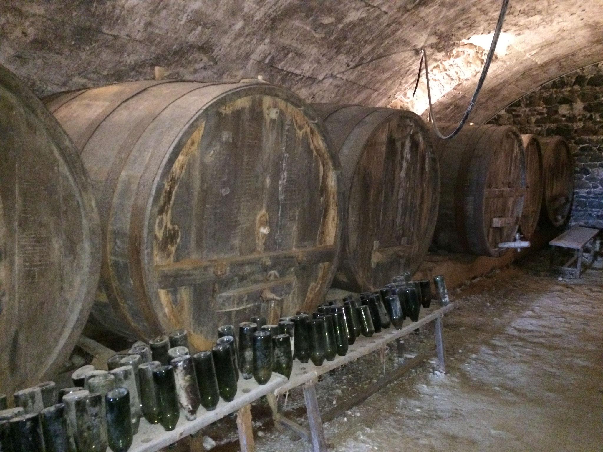 La cave du château de Hauterive, à 25 minutes de La Villa Victoria Auvergne.