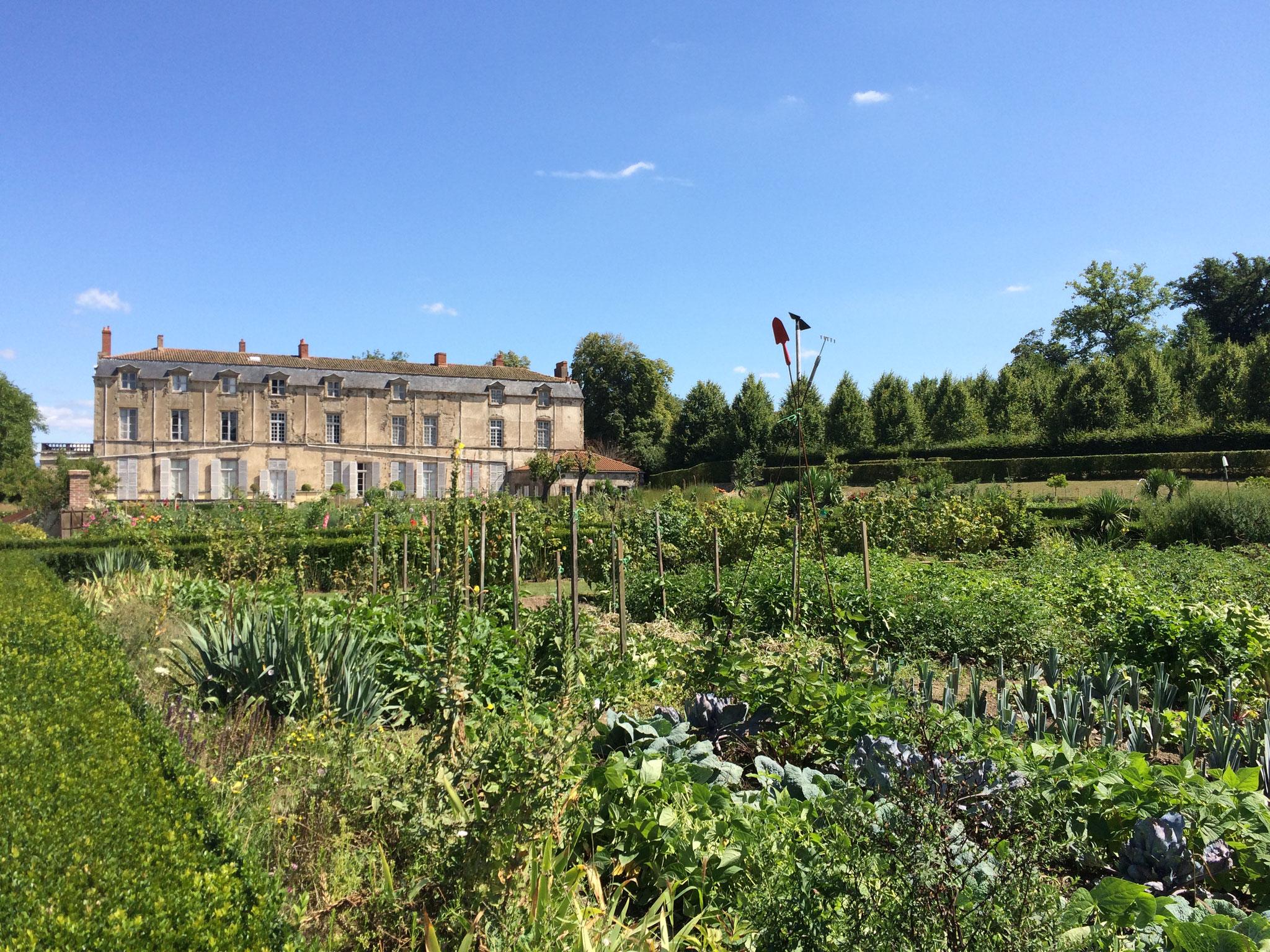 Le potager du château de Hauterive : fabuleux !