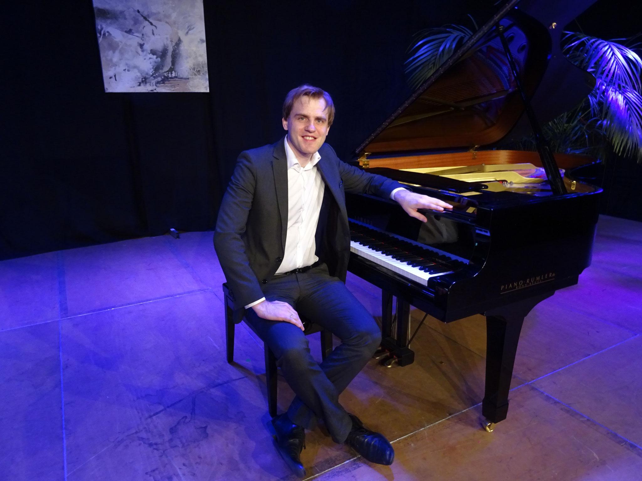 Florian Koltun begeisterte mit seinem Klavierkonzert das Publikum.