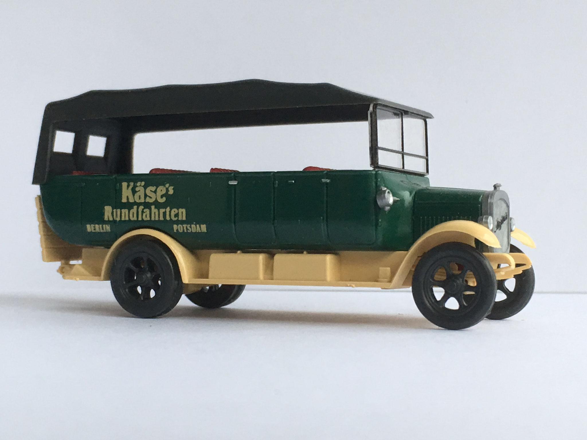 Magirus Ausflugsbus Käse Rundfahrten, Art. Nr. 393 (von Wiking ab 1994 unter dem Label Roskopf im Programm)