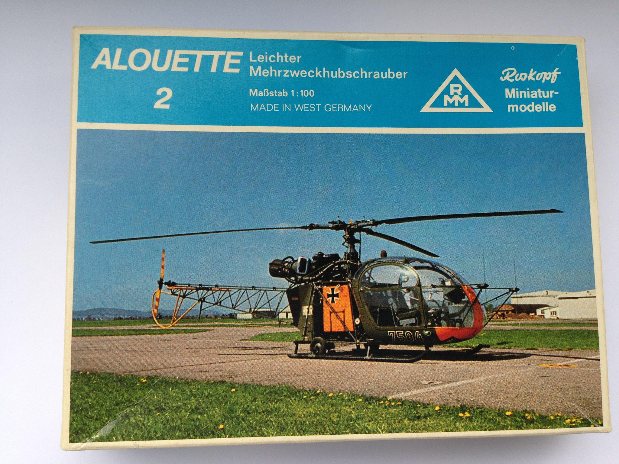 Alouette 2, Verbindungshubschrauber, Bausatz, Art. Nr. 56 (ab 1976 im Programm)