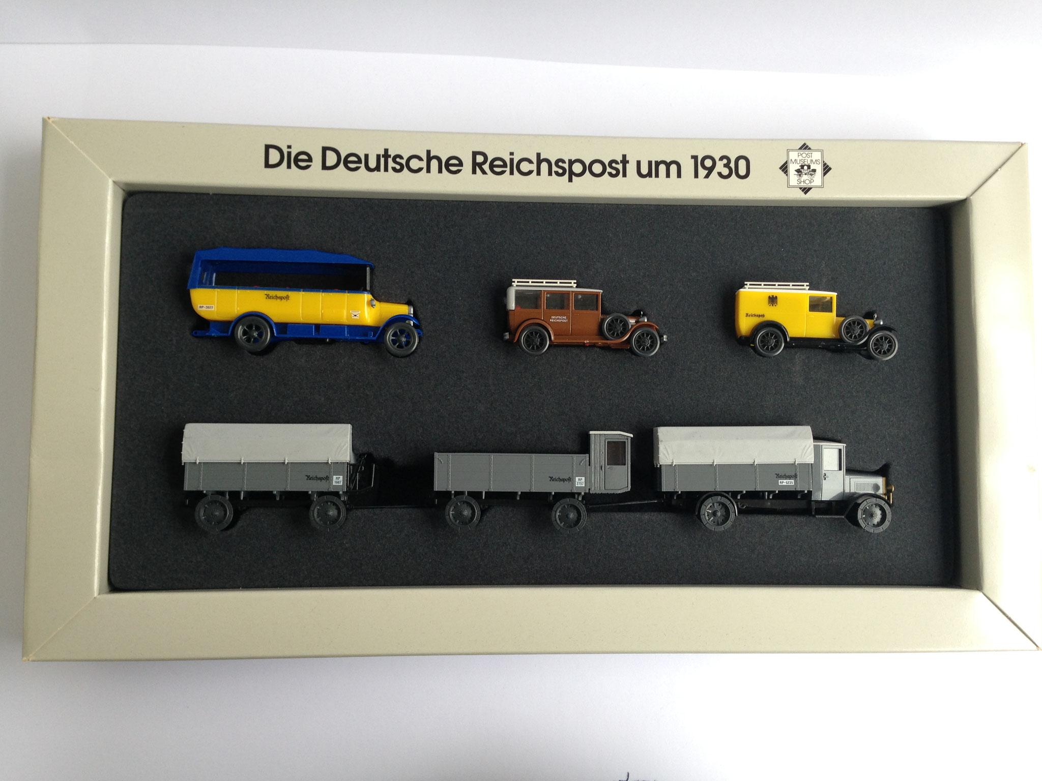 """Set """"Die Deutsche Reichspost um 1930"""" (Post-Museums-Shop Nr. 66-50), 1996"""
