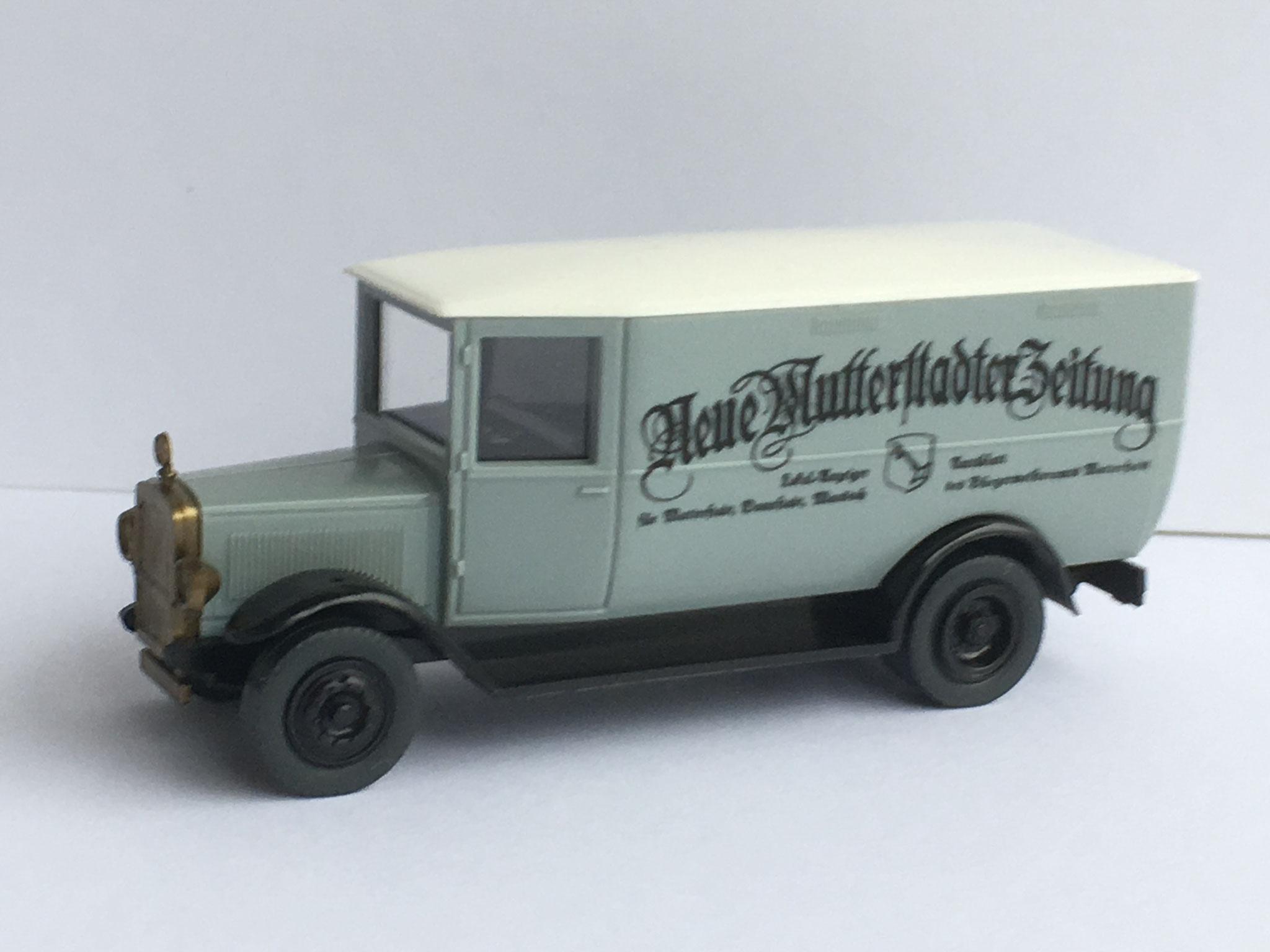 Mercedes L2 Zeitungsauto Neue Mutterstadter Zeitung, grau