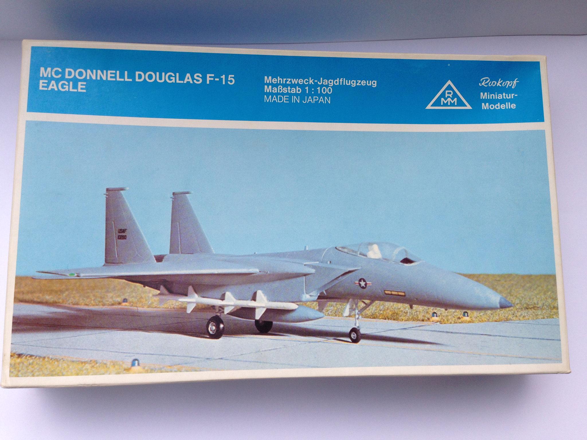 F-15 Eagle, Jagdflugzeug, USA, Bausatz, Art. Nr. 84 (ab 1980 im Programm)