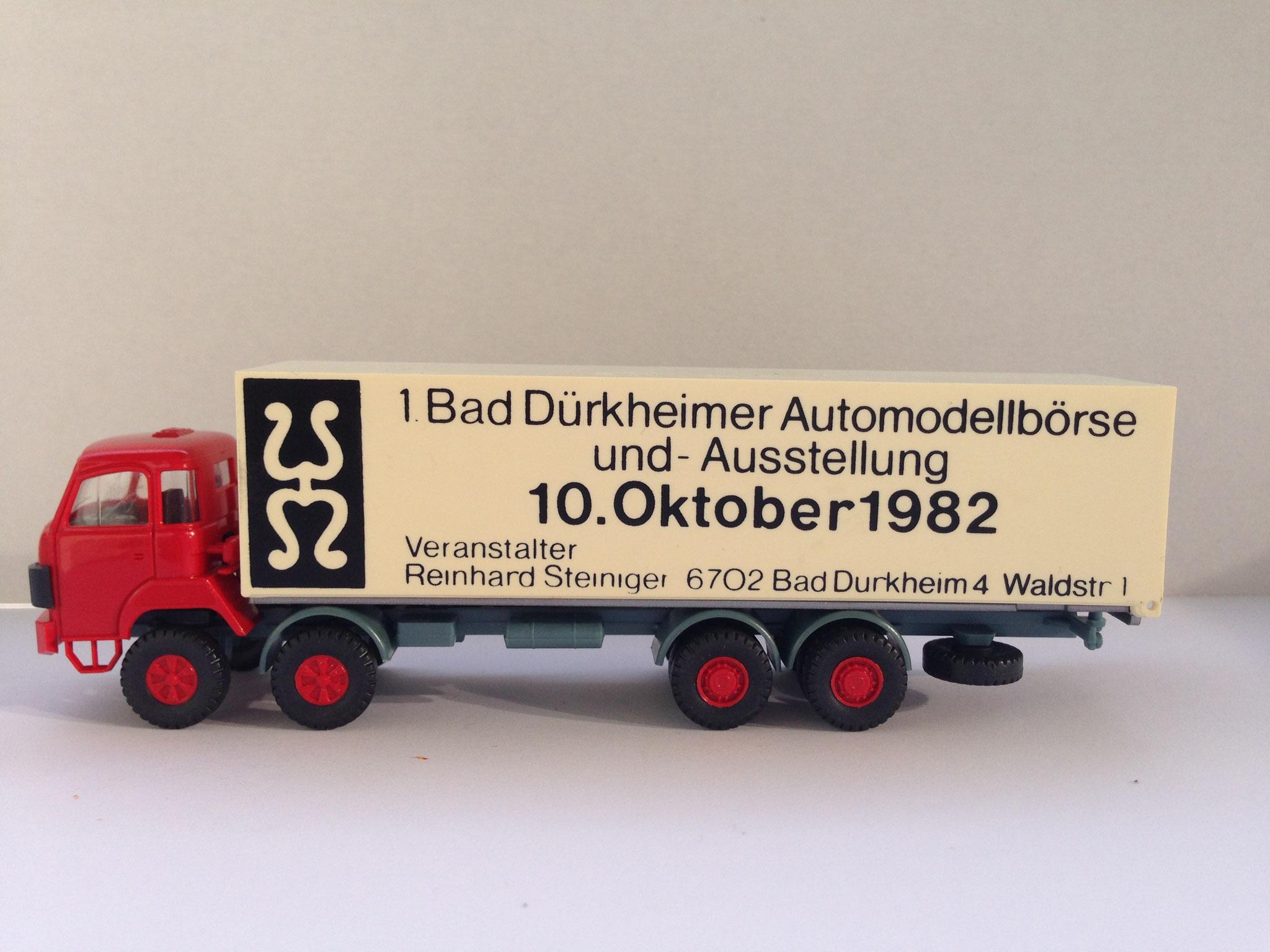 Saurer zur 1. Bad Dürkheimer Automodellbörse 1982