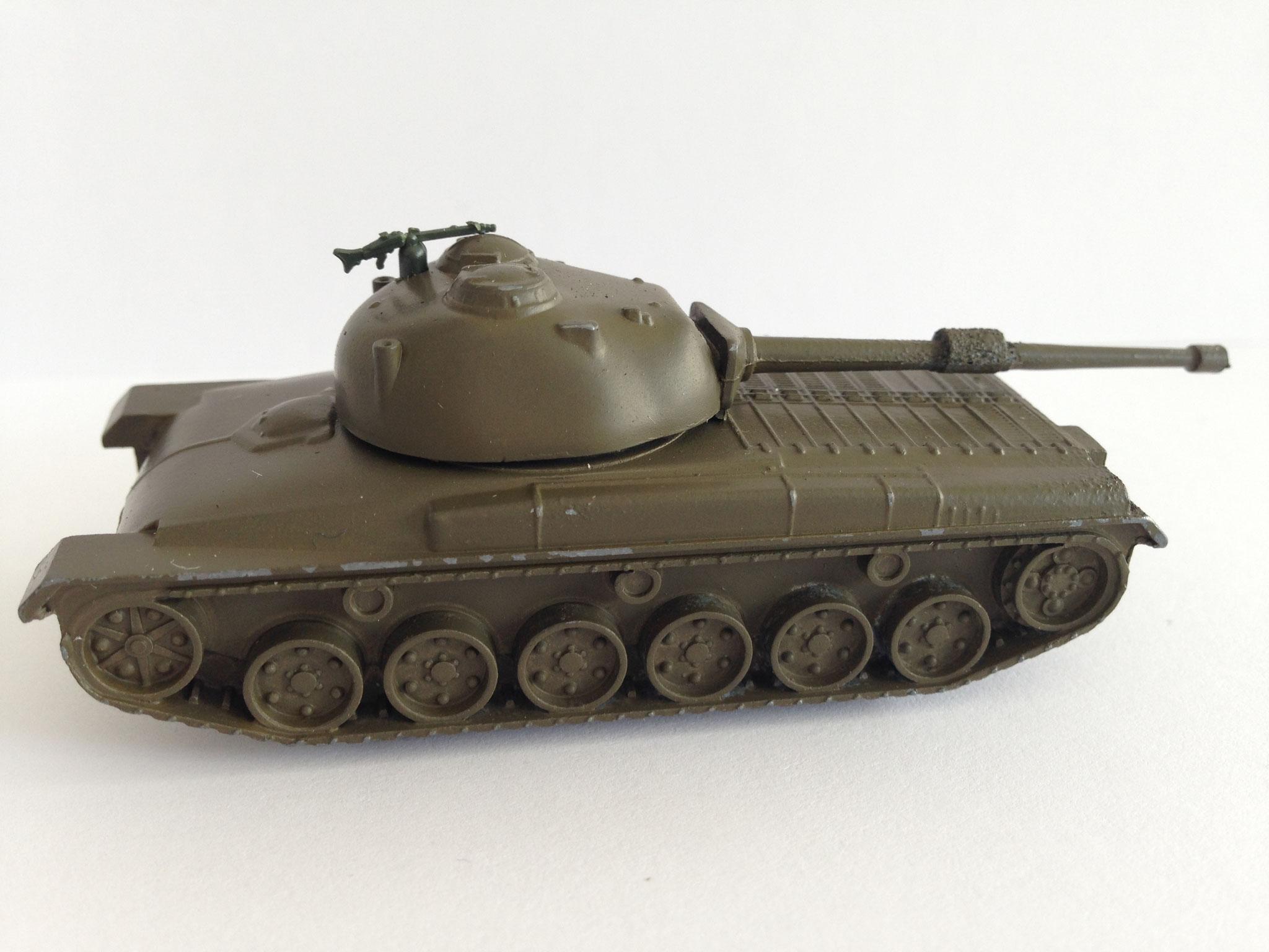 Panzer 61, Schweiz, Metallmodell, braun, Serie für Schweiz mit MG 34, Art. Nr. 187