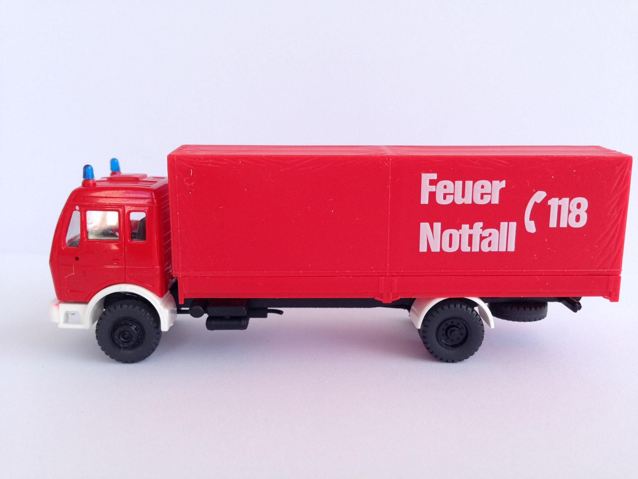 Feuerwehr, 2-Achs-Gerätewagen, Notruf 118, Art. Nr. 516 S