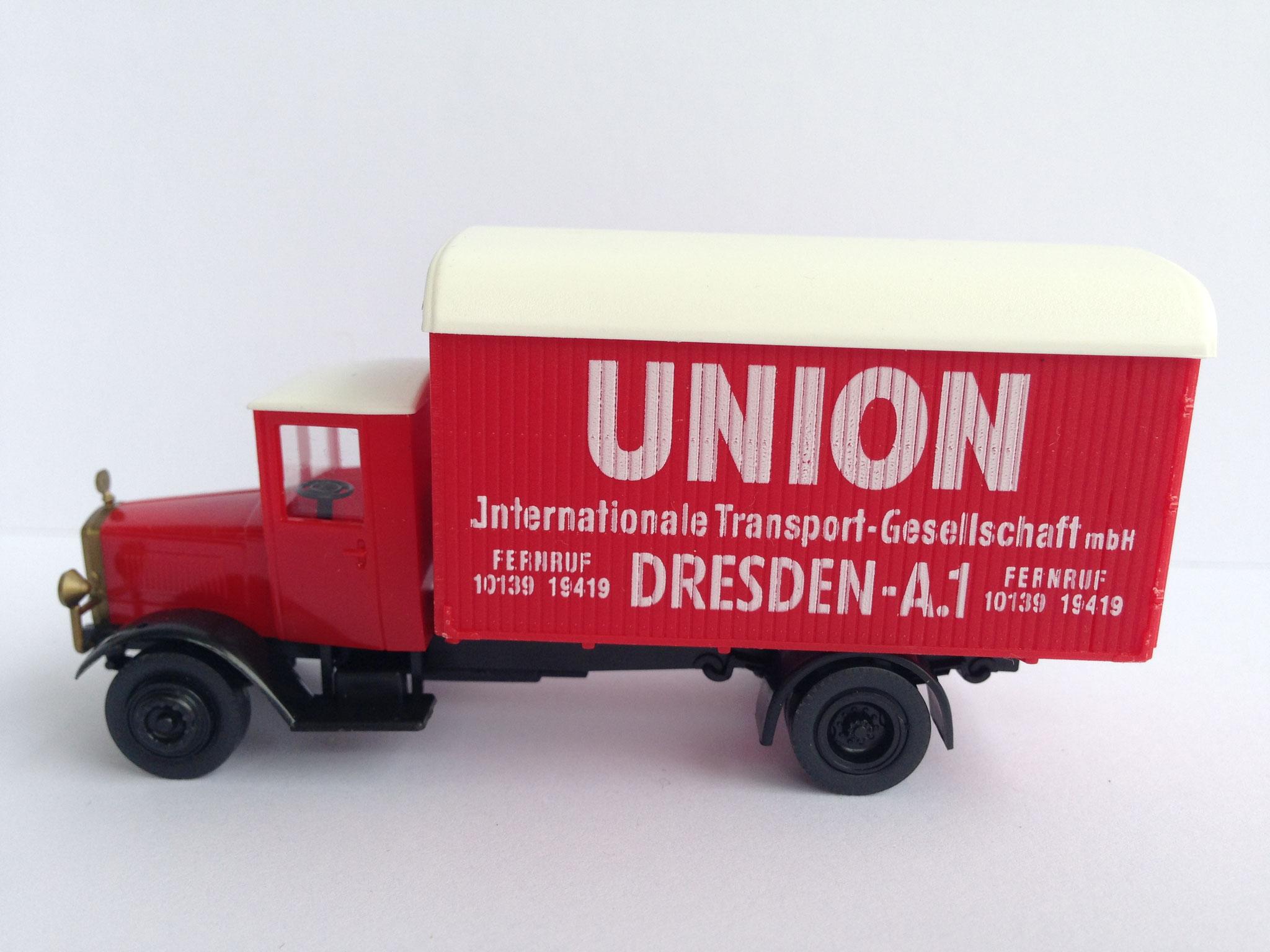 Mercedes L5 Möbelwagen Union Dresden, Art. Nr. 352.00 (von Wiking ab 1996 unter dem Label Roskopf im Programm)