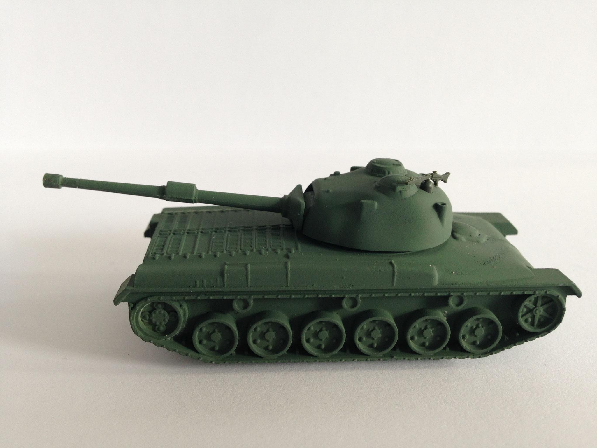 Panzer 61, Schweiz, Metallmodell, olivgrün, Serie für Schweiz mit MG 34, Art. Nr. 187