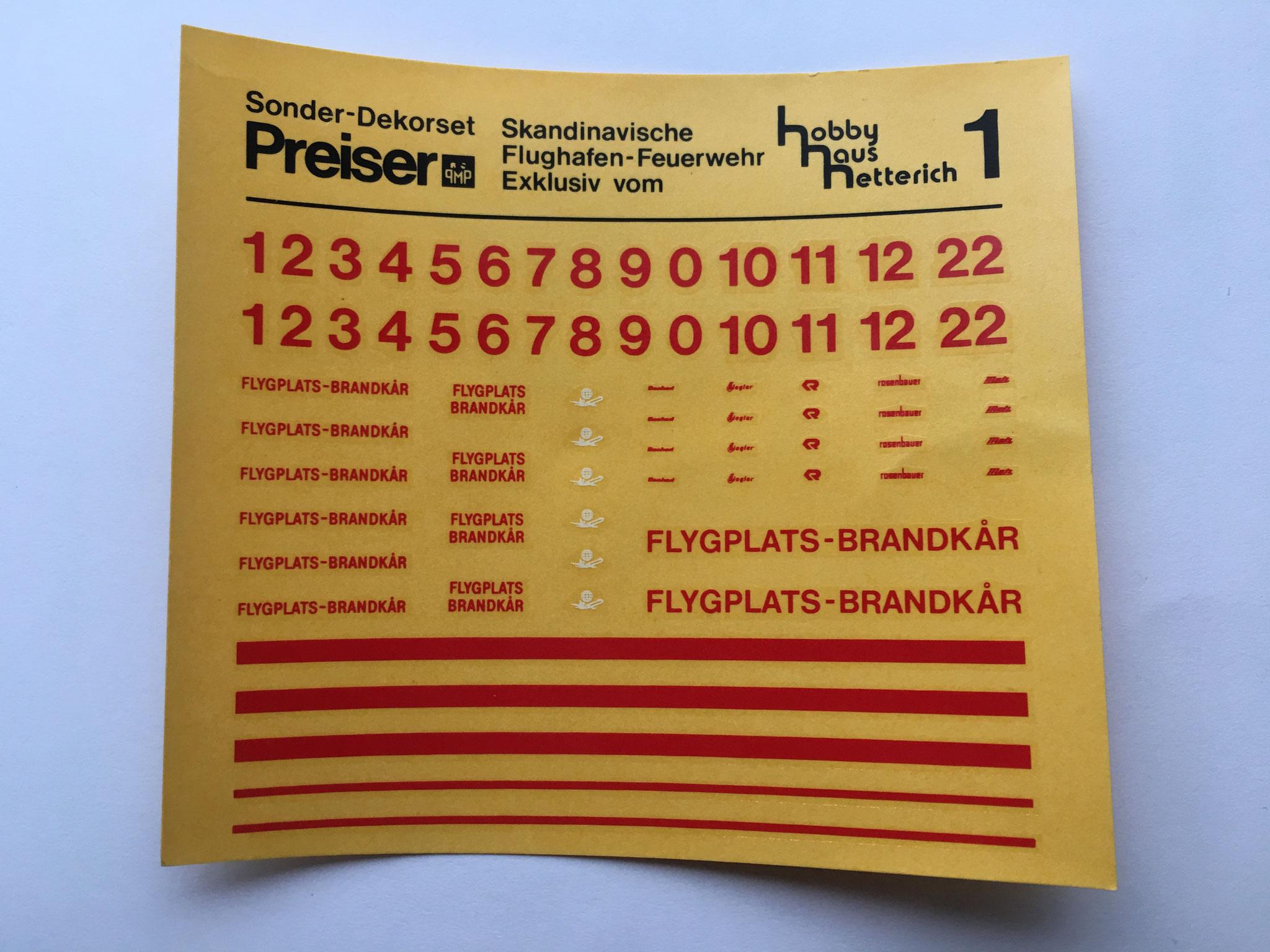 Decalbogen rot für Hobby Haus Hetterich, Hersteller Preiser