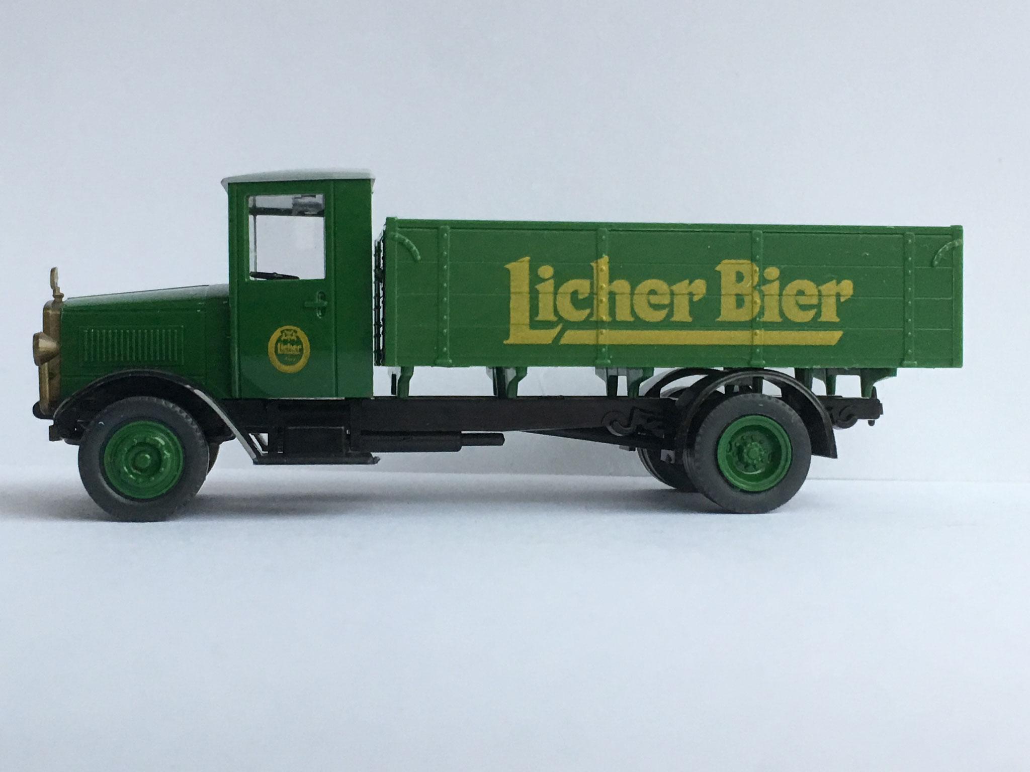 Mercedes L5 Bierwagen Licher Bier, Variante 1, 1989