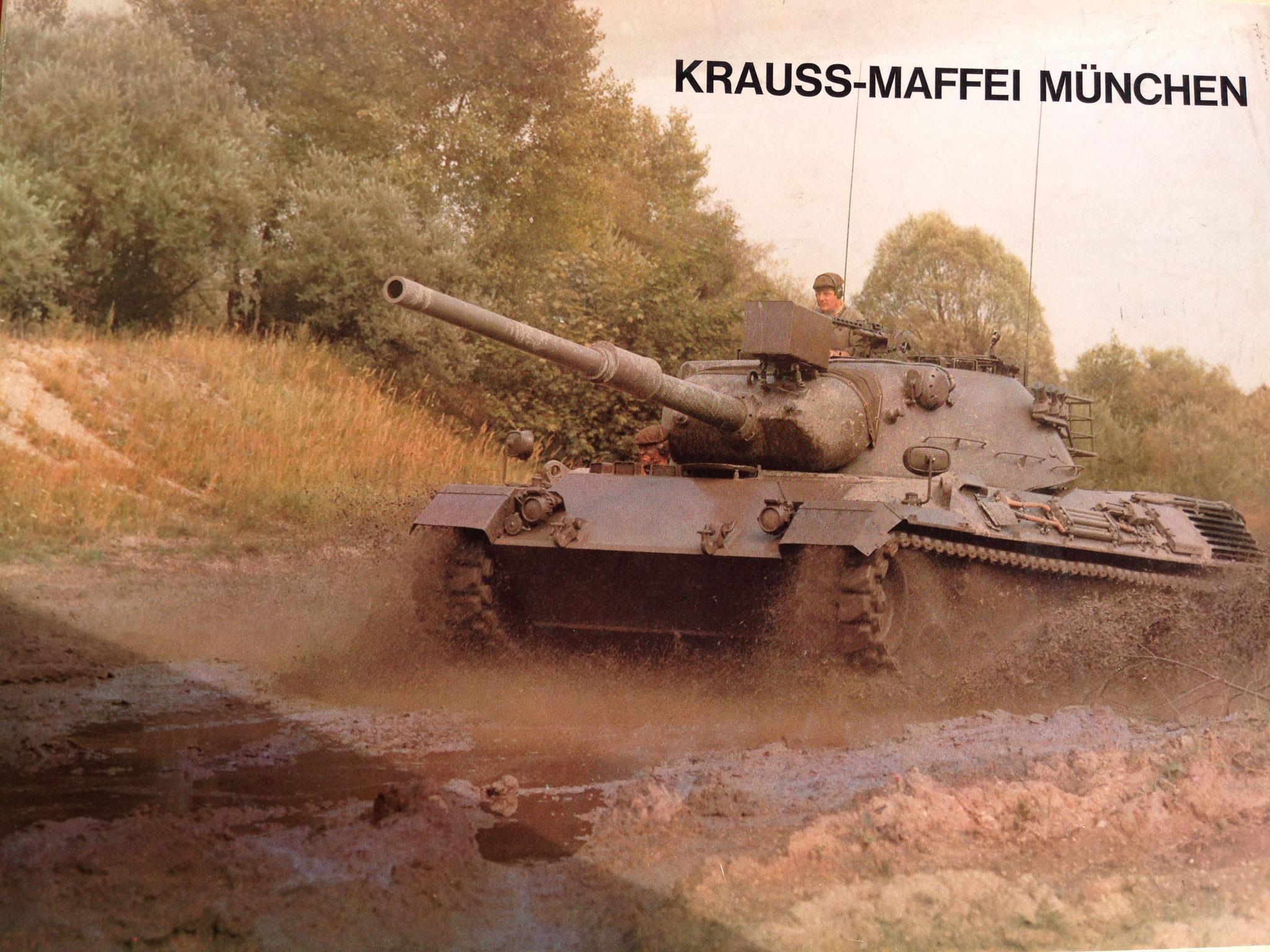 Werbeset Krauss-Maffei München, Vorderseite des Kartondeckels