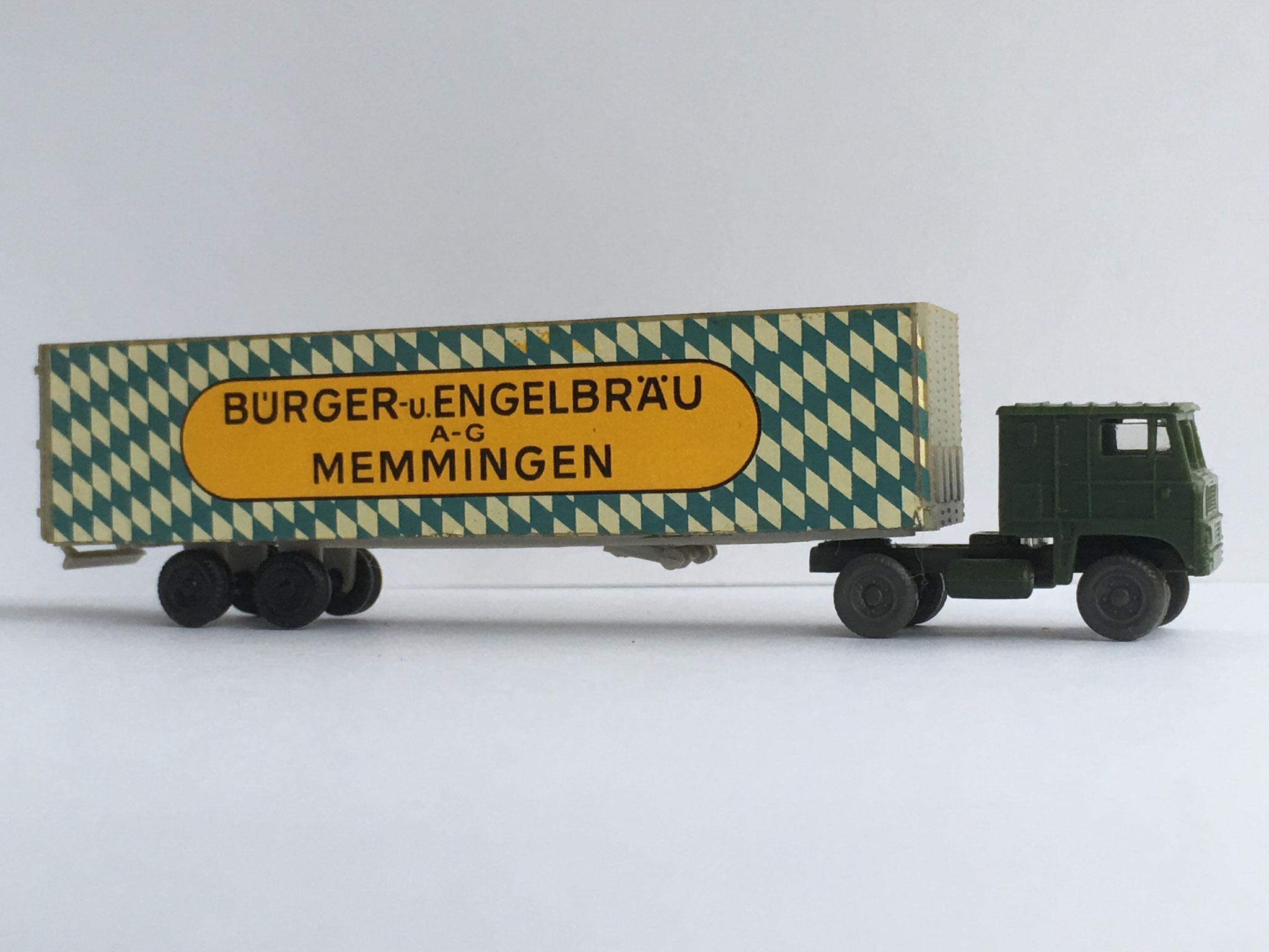 White Sattelschlepper Bürger- und Engelbräu, Art. Nr. 923 (ab 1970 im Programm), Werbemodell