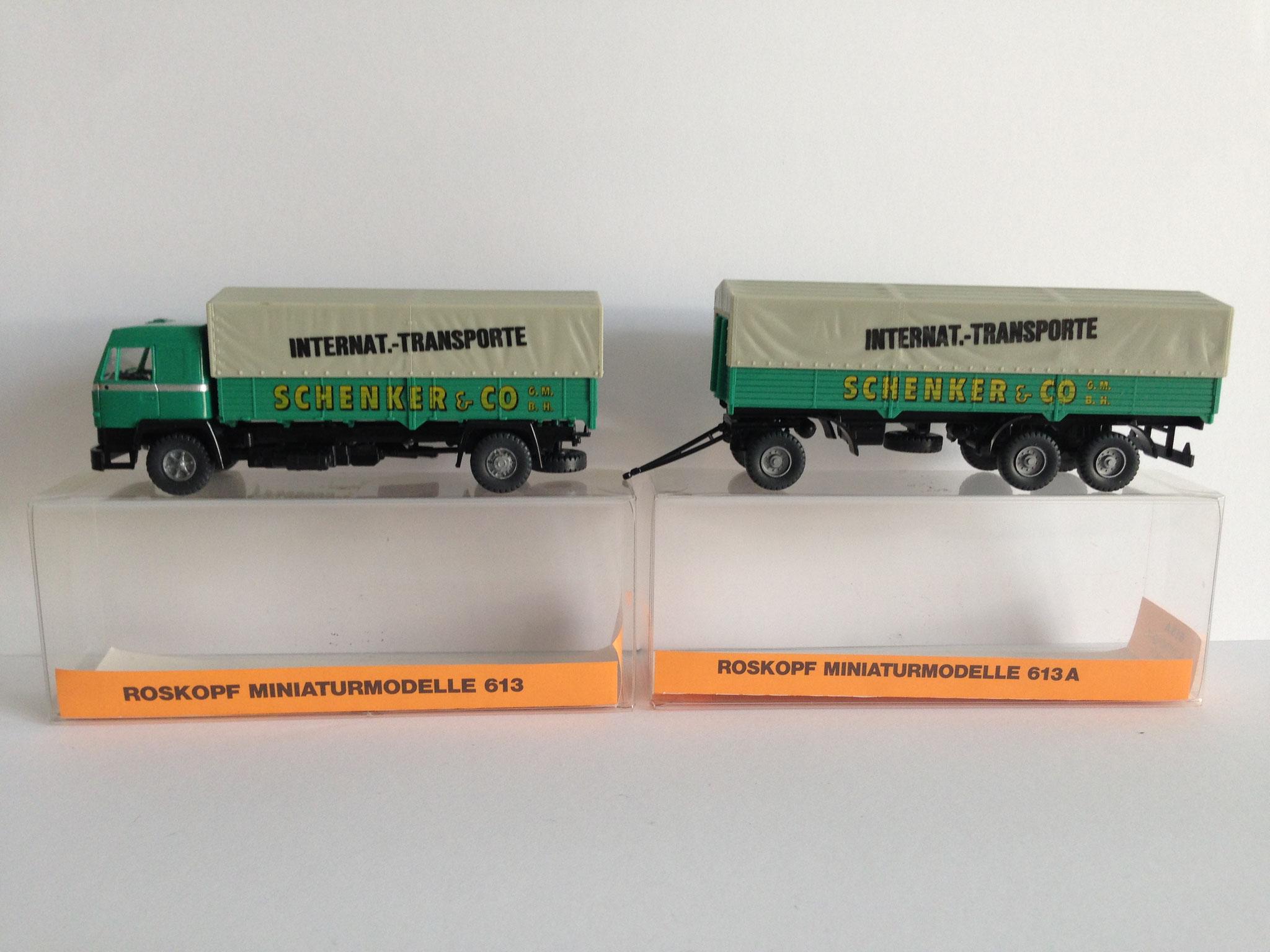 Nr. 613 und 613A, 2-achsiger Lastzug mit 3-achsigem Anhänger von Roskopf (1989 / 1990)