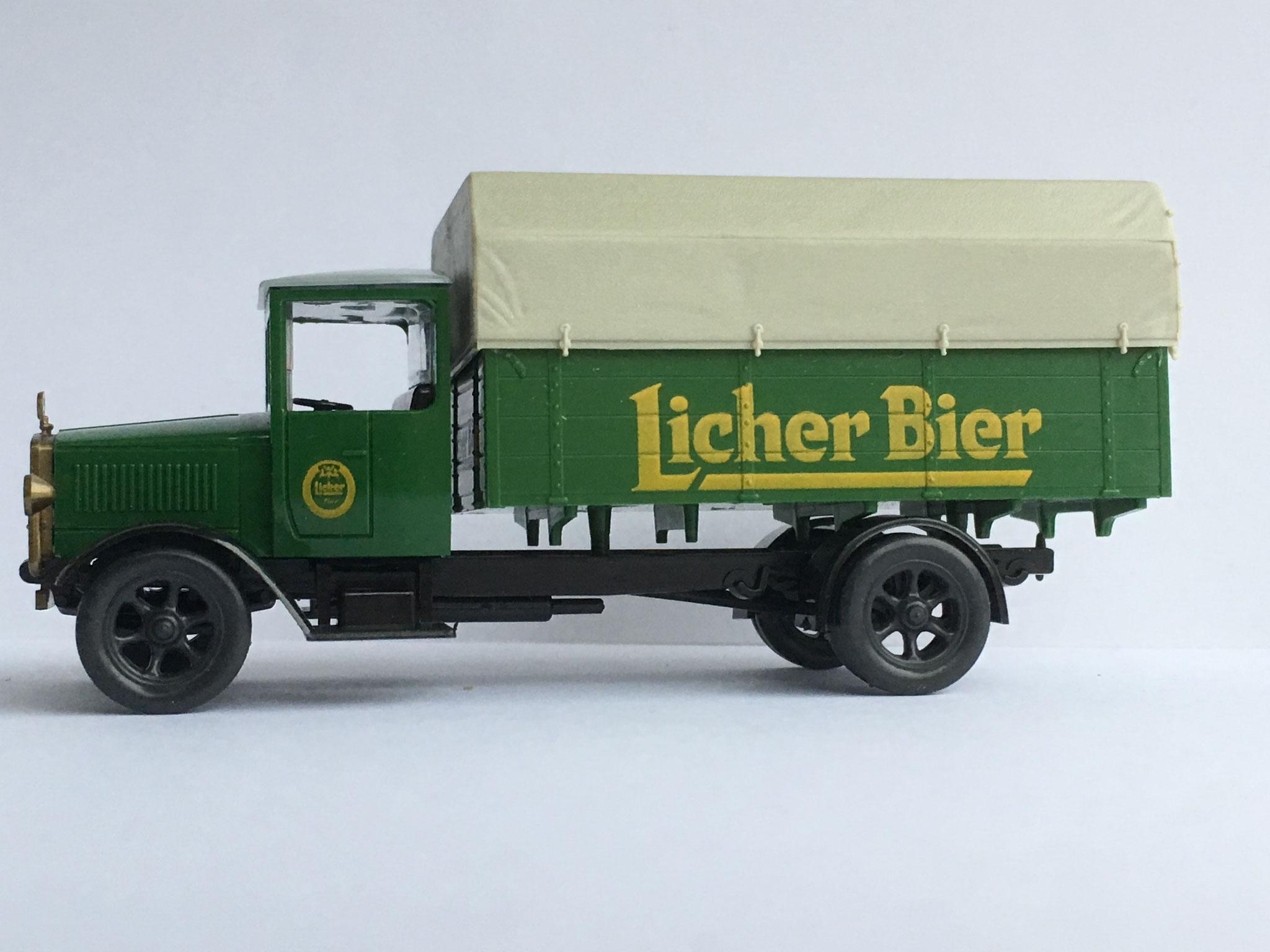 Mercedes L5 Bierwagen Licher Bier, Variante 2, 1989