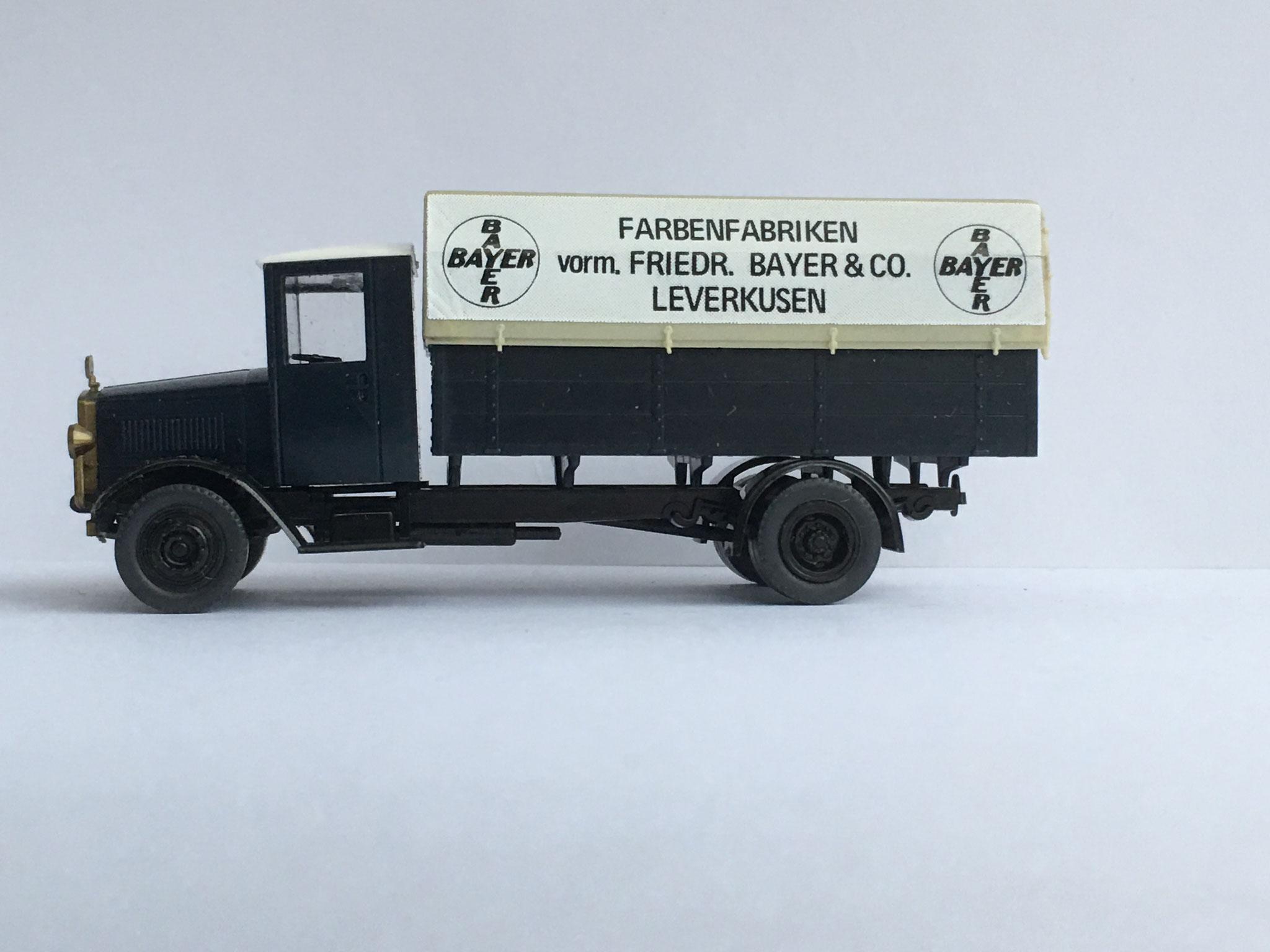 Mercedes L5, Pritschenwagen mit Plane, Farbenfabrik Bayer, Art. Nr. HA-2004 (Lemke), 1989