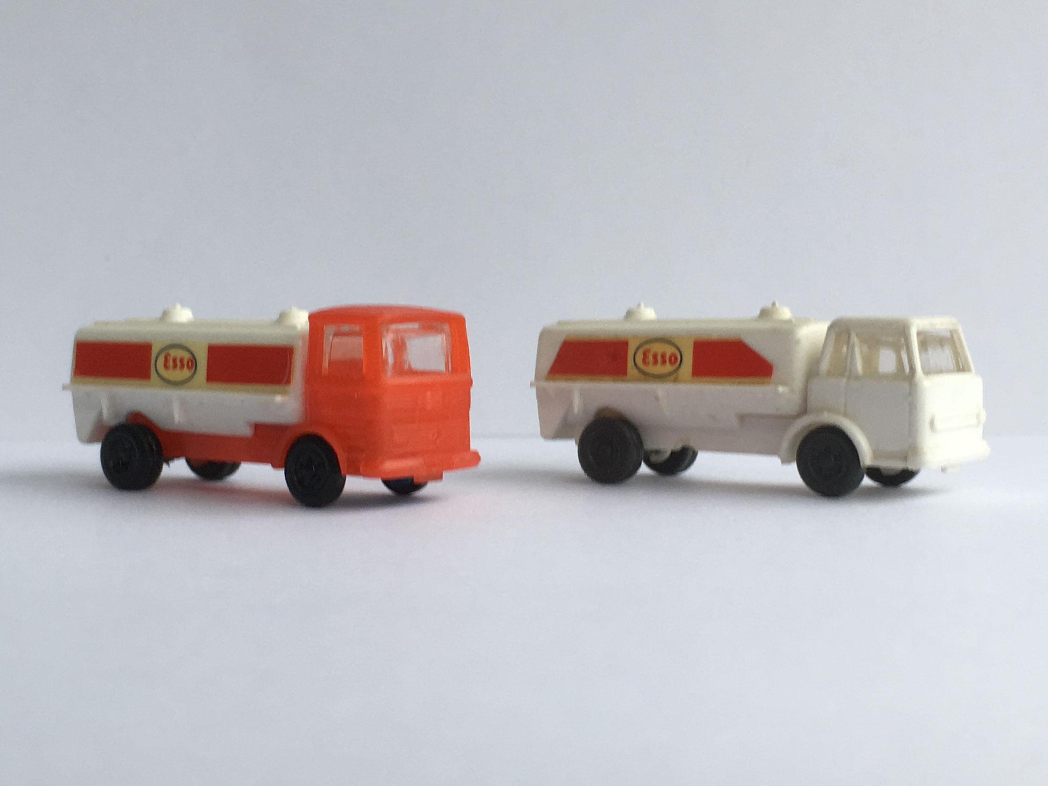 IHC und MB je als Tankwagen, Art. Nr. 917 (ab 1969 im Programm)