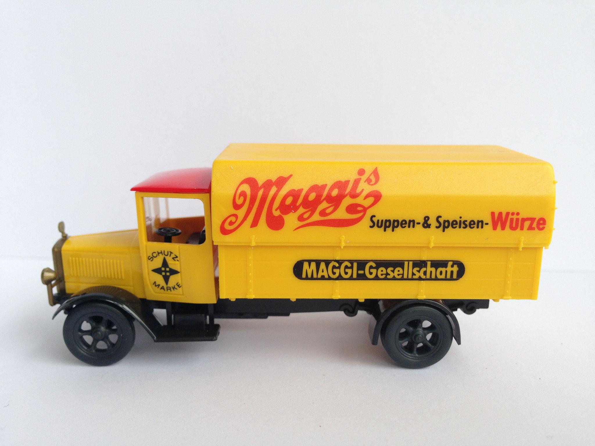 Mercedes L5 Lieferwagen mit Plane, Maggi, Art. Nr. 1025 (ab 1989 im Programm)