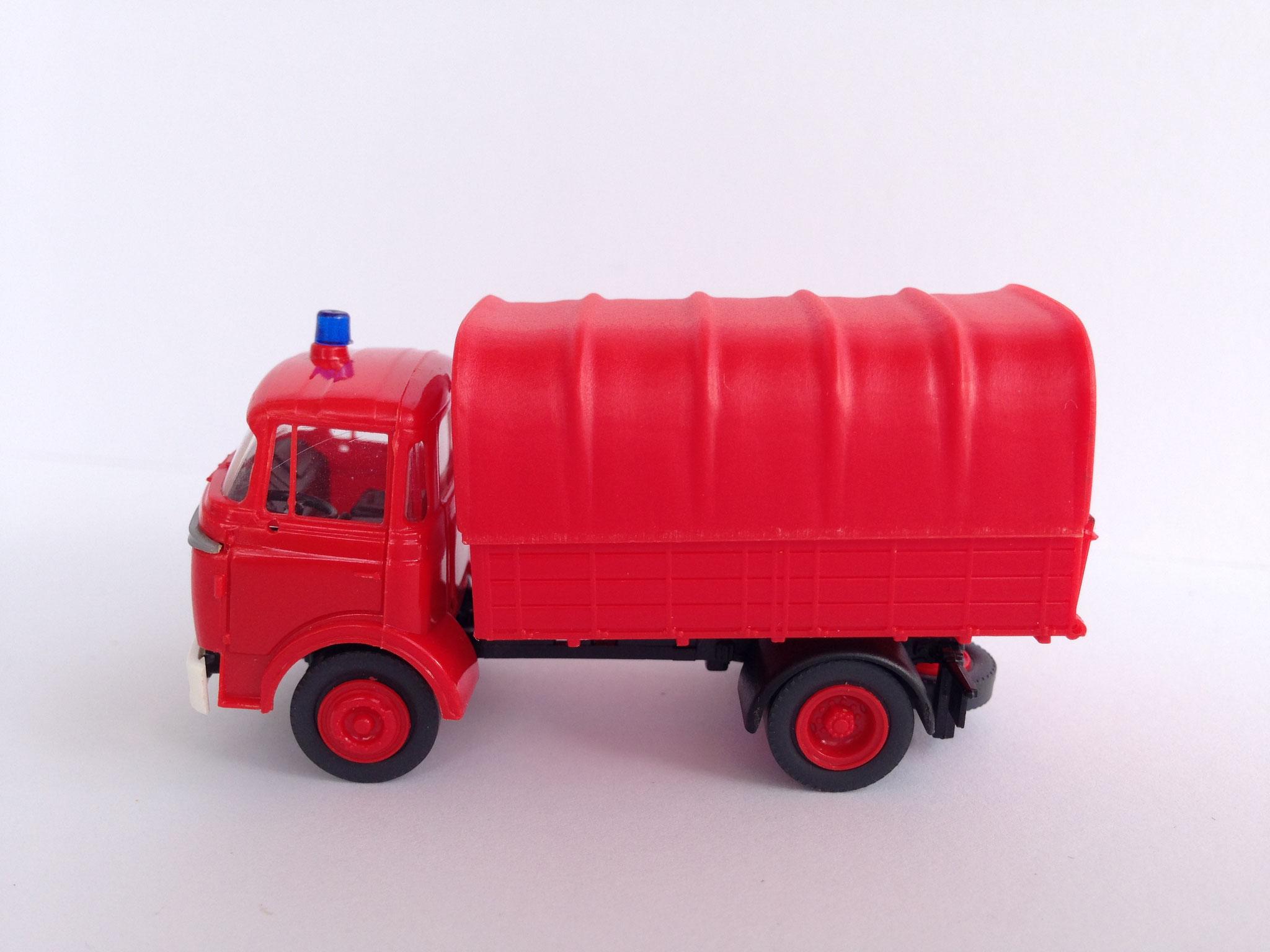 Feuerwehr 2-Achser, Pritsche/Plane, Art. Nr. 744 (ab 1989 im Programm)
