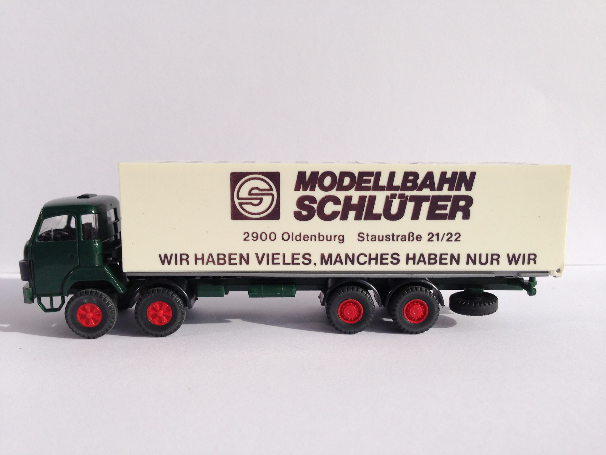 Saurer Modellbahn Schlüter / Feldmann Hamburg, limitierte Auflage (2 verschiedene Farbbedruckungsvarianten)