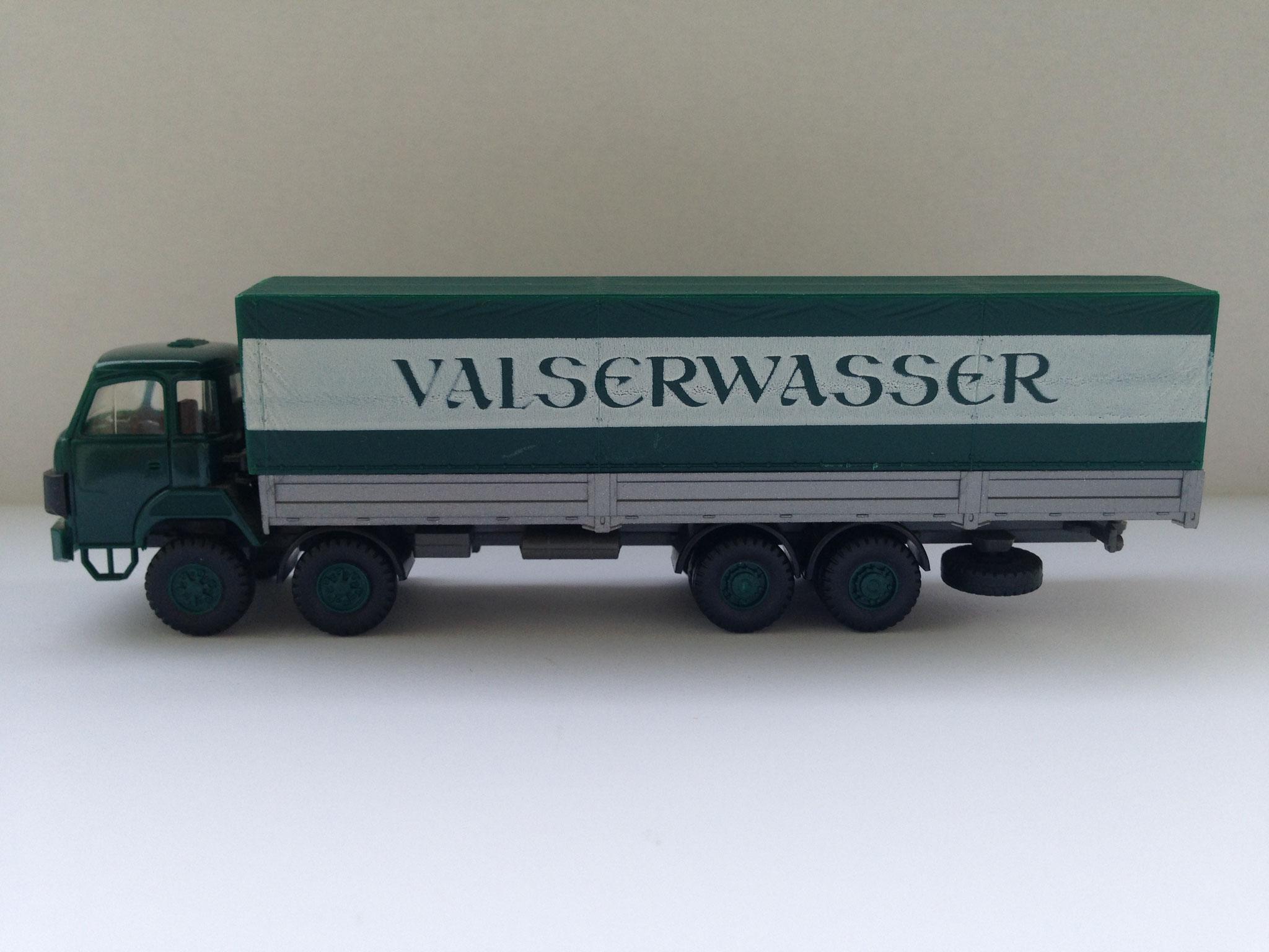 Valserwasser, 4-Achser mit Pritsche und Plane, Art. Nr. 520 (ab 1985 im Programm)