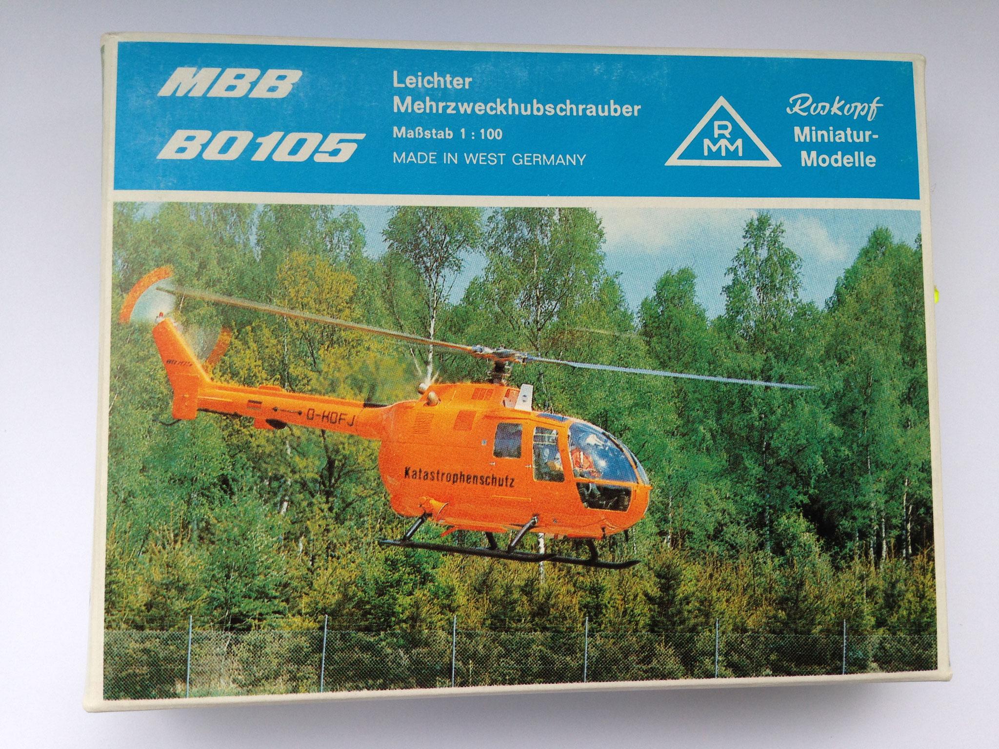 """Rettungshubschrauber """"Katastrophenschutz"""", Bausatz, Art. Nr. 33 (ab 1984 im Programm)"""