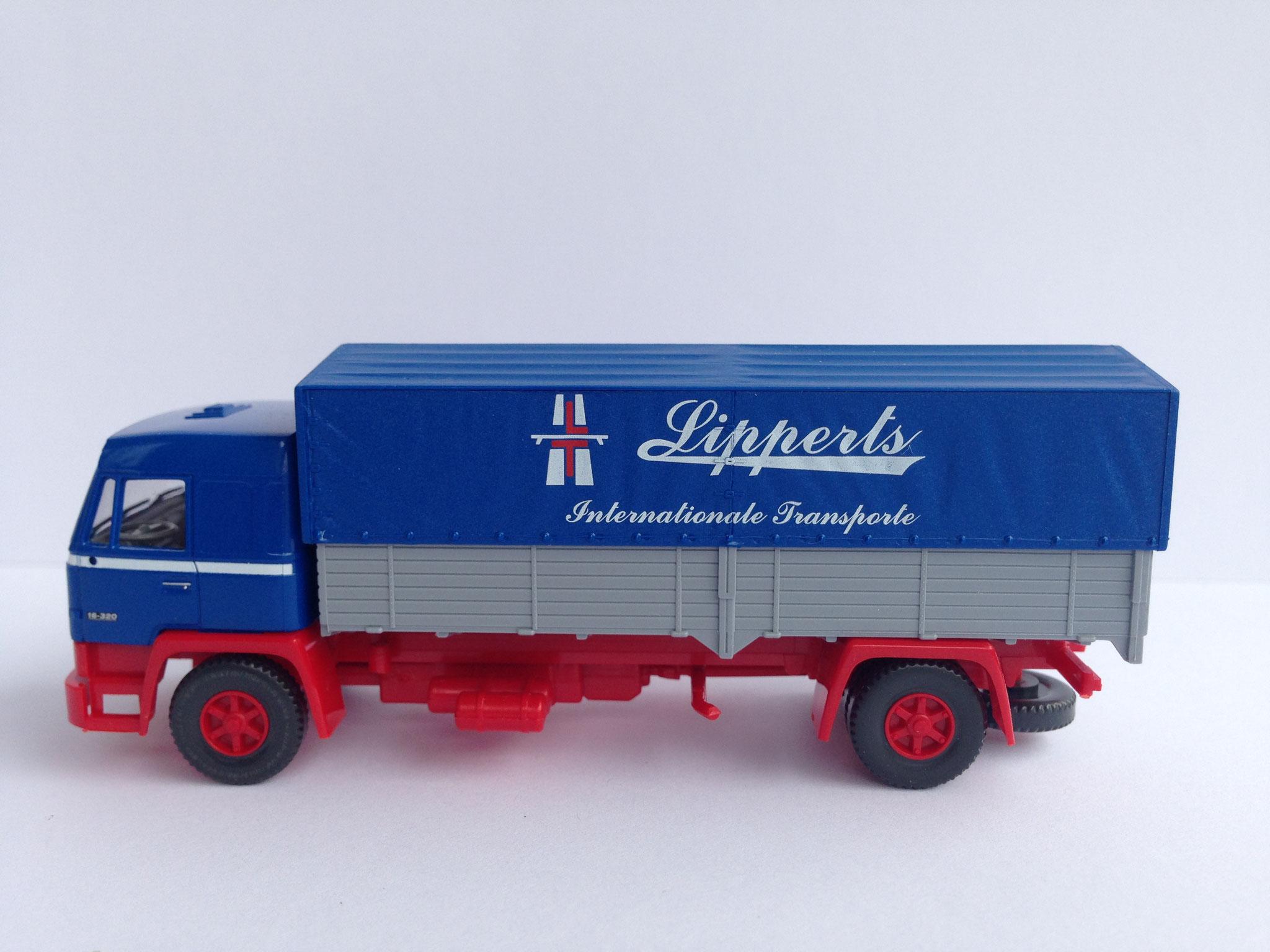 Lipperts 2-Achser, Pritsche/Plane, Art. Nr. 849 58 (Auftragsmodell für Vedes, nur 2012 im Programm)