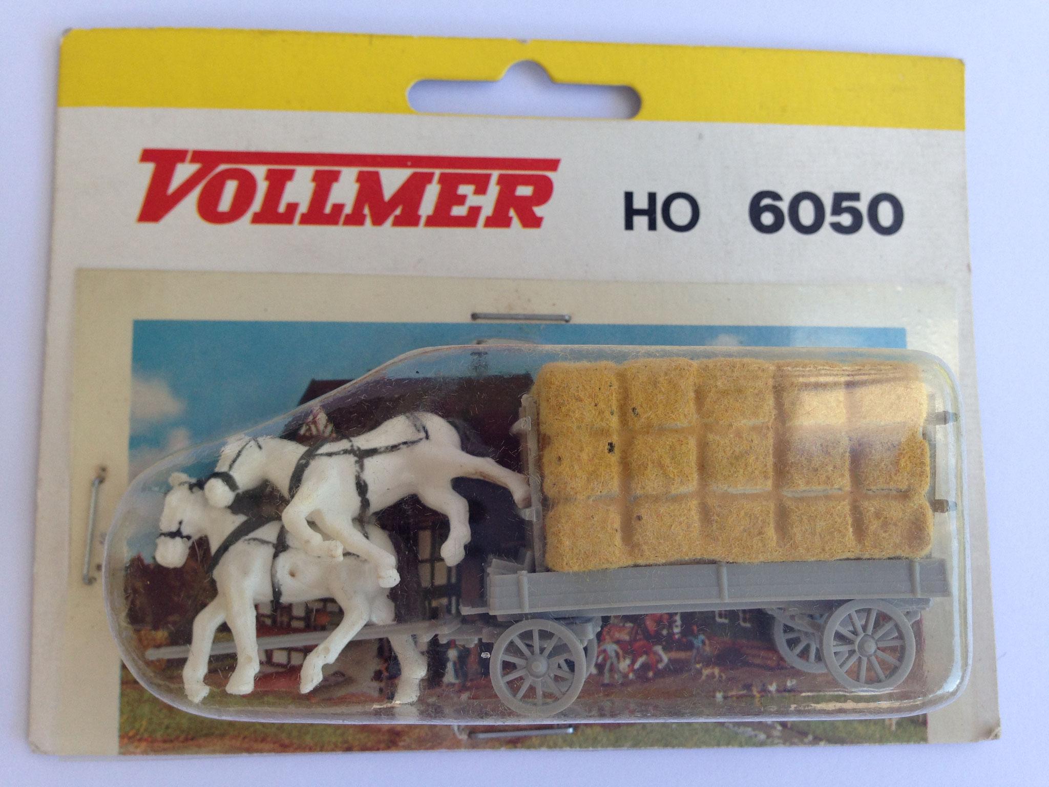 Nr. 6050 Rollwagen mit Beladung, marschierende Pferde