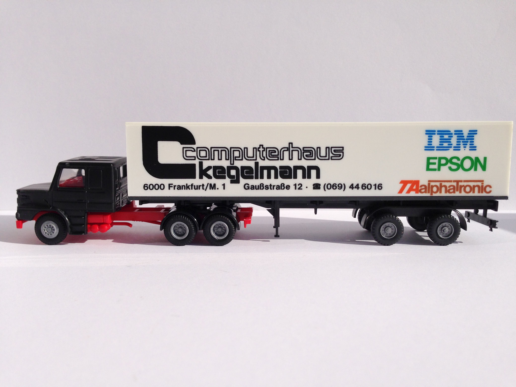Auflieger Kegelmann, zu Werbemodell