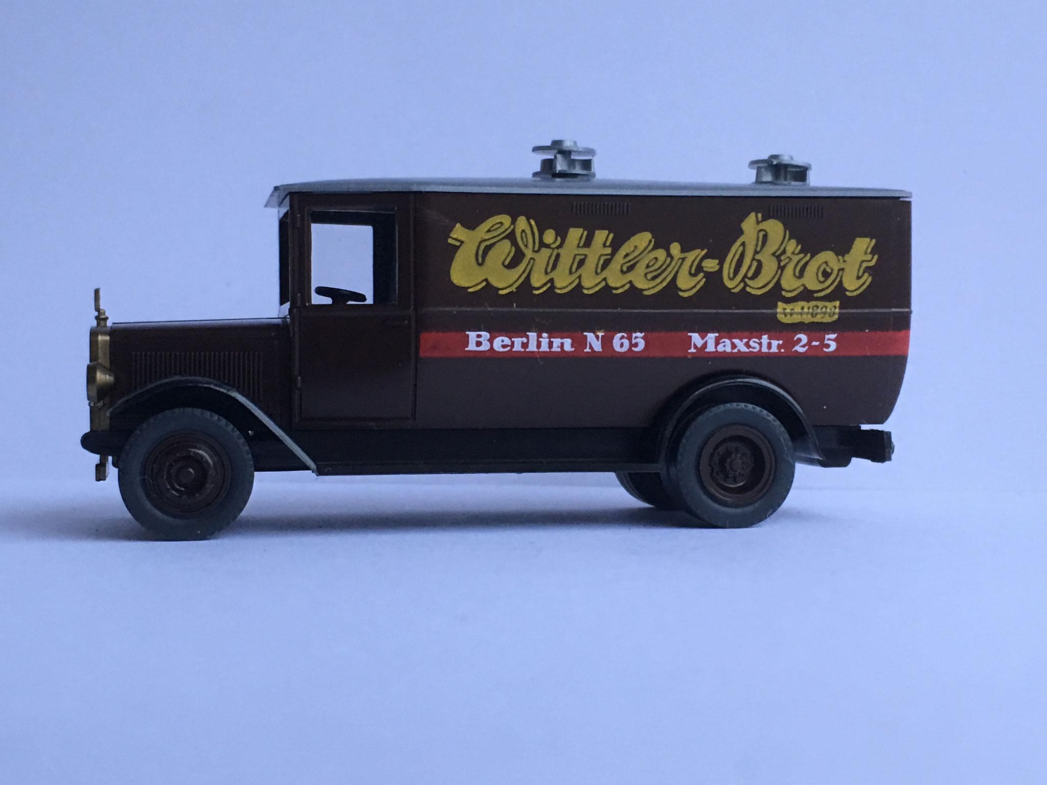 Mercedes L2 Kastenwagen Wittler Brot Berlin, Art. Nr. R6 (Pietsch), 1989