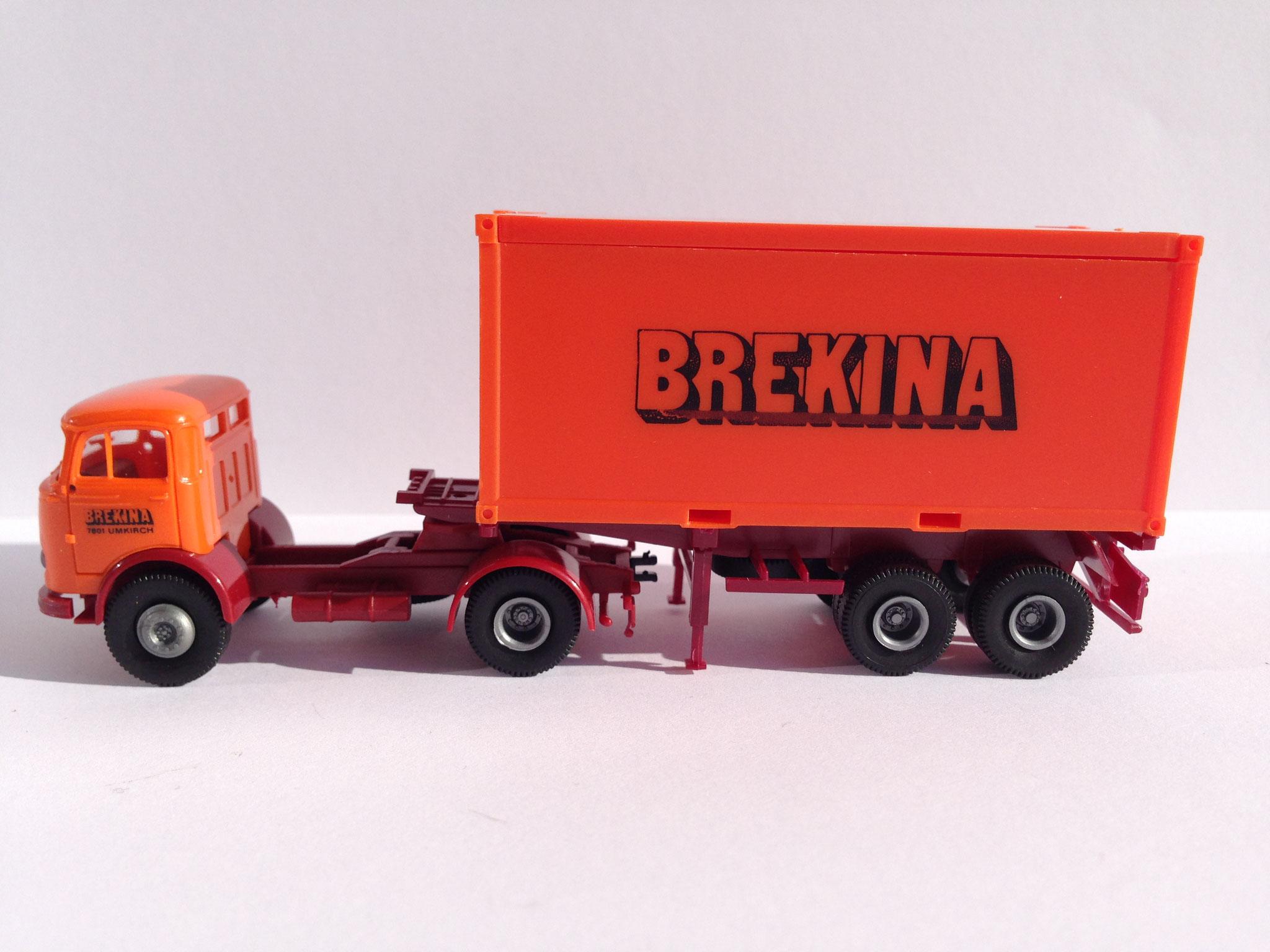 Containerauflieger Brekina, zu Sondermodell