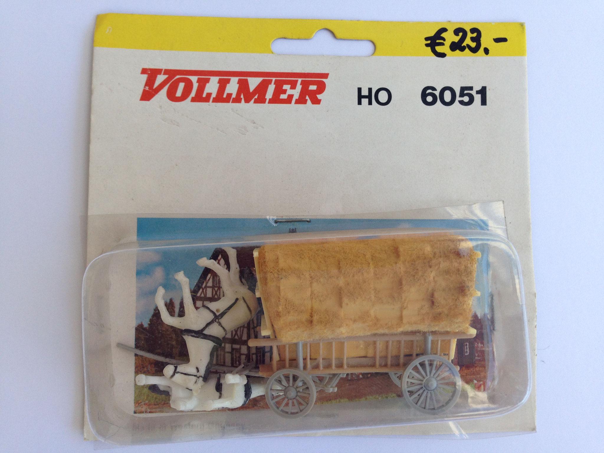 Nr. 6051 Leiterwagen mit Beladung, marschierende Pferde