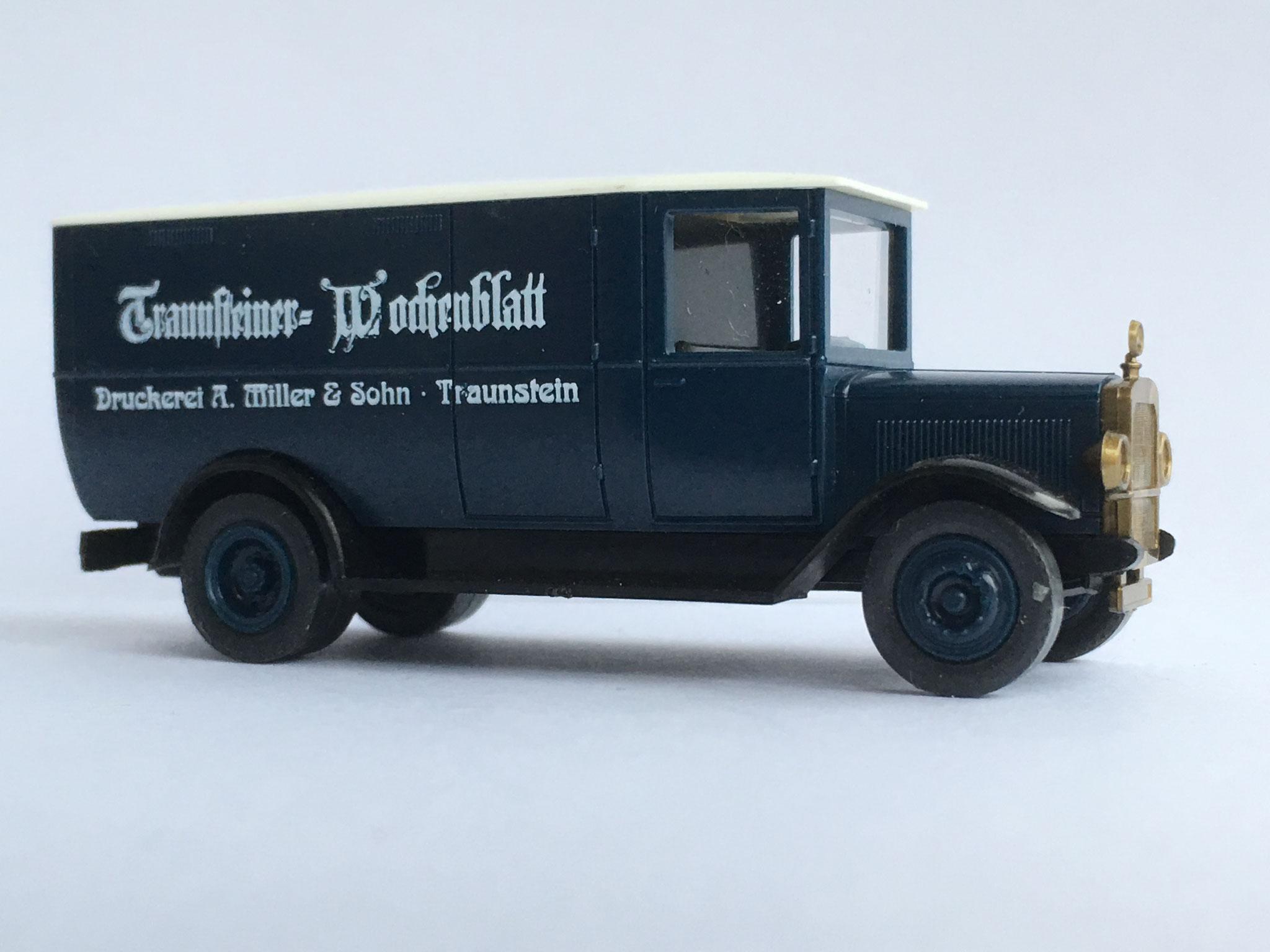 Mercedes L2 Zeitungsauto Traunsteiner Wochenblatt, 1990