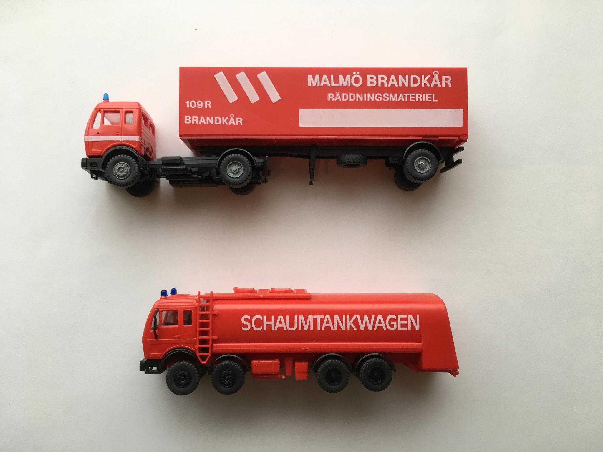 Feuerwehr Malmö und Feuerwehr Schaumtankwagen - Hobby Haus Hetterich